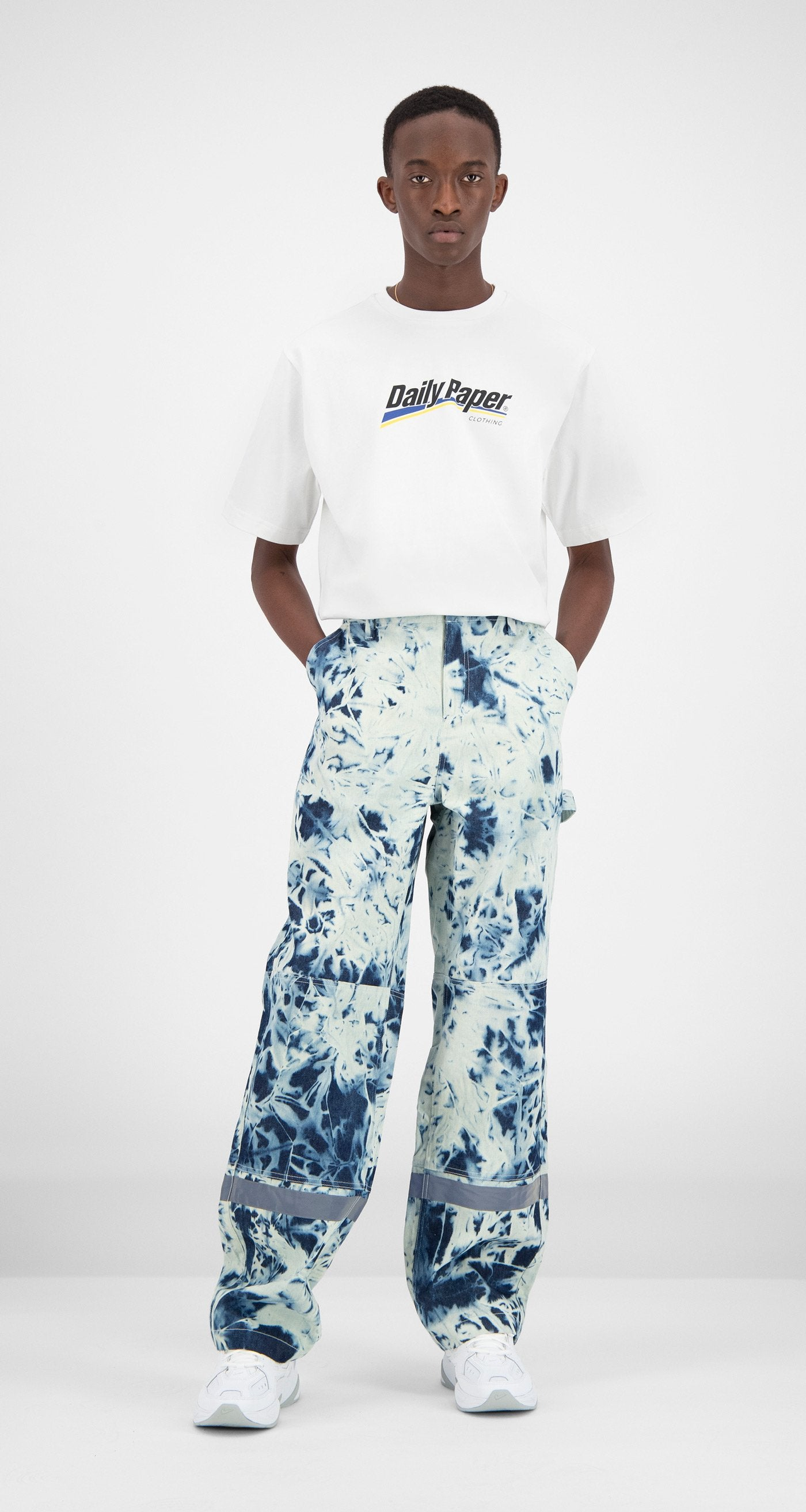 Daily Paper - Navy Printed Fefac Pants Men
