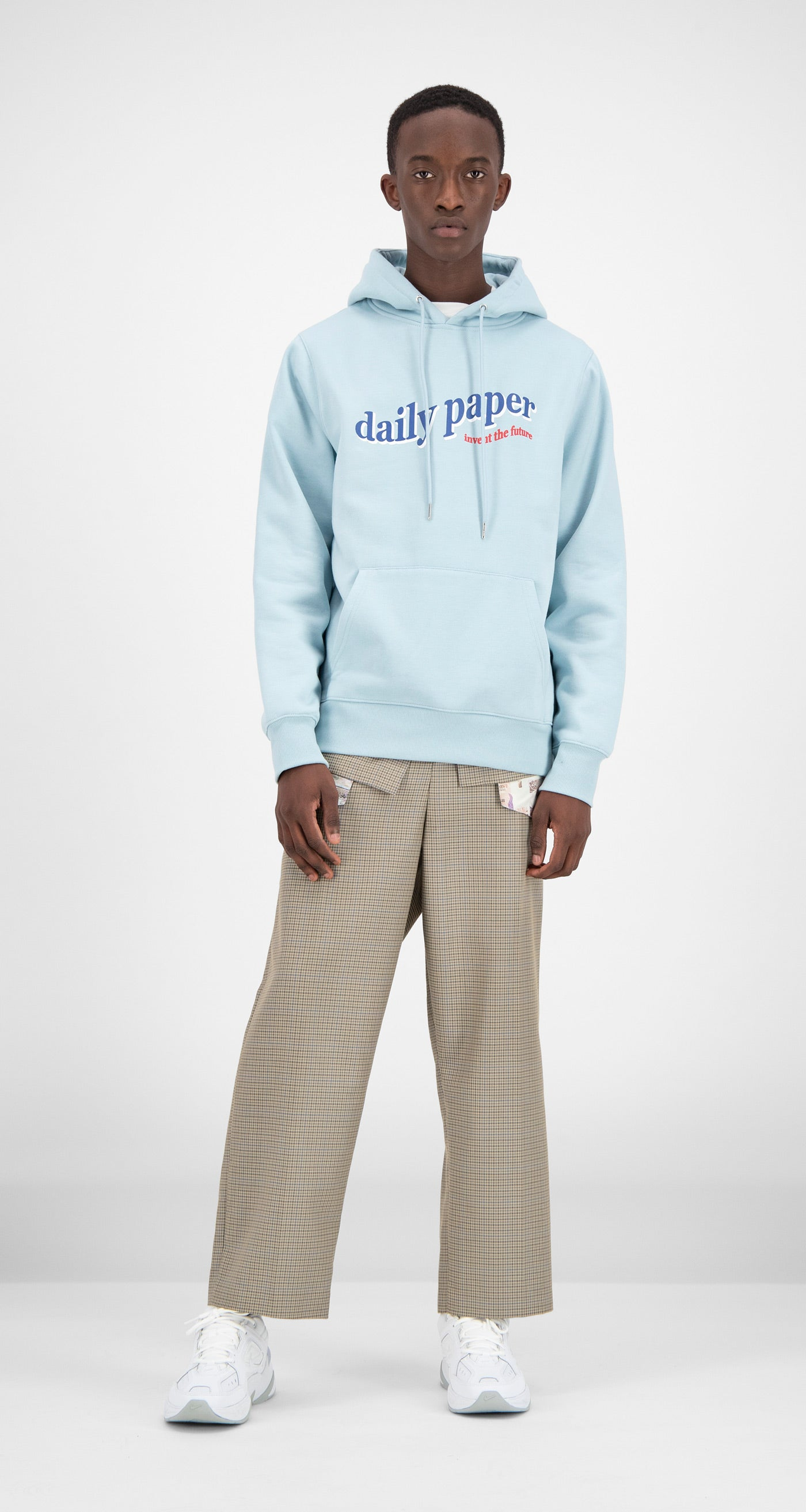 Daily Paper - Light Blue Ferron Hoody Men Front