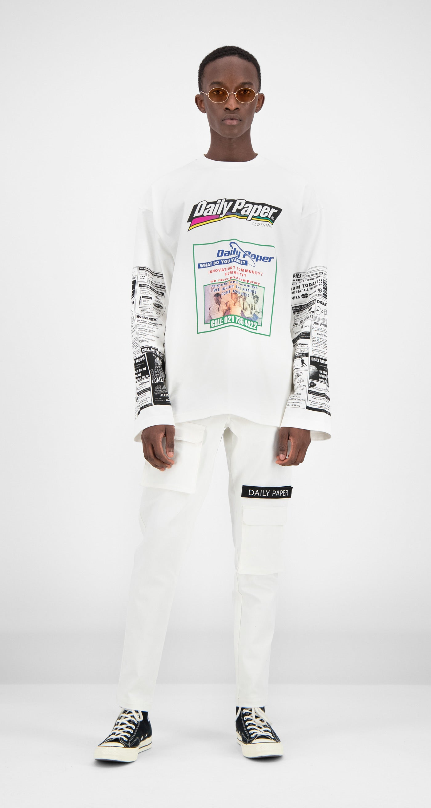 Daily Paper - White Fang Longsleeve Men Front