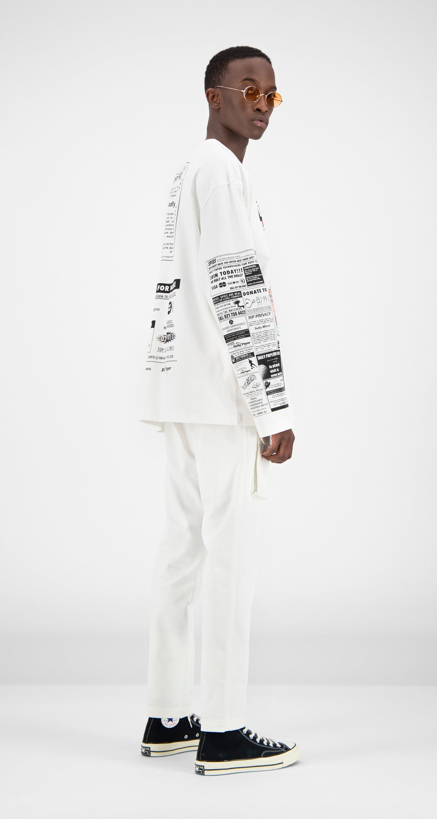 Daily Paper - White Fang Longsleeve Men Rear
