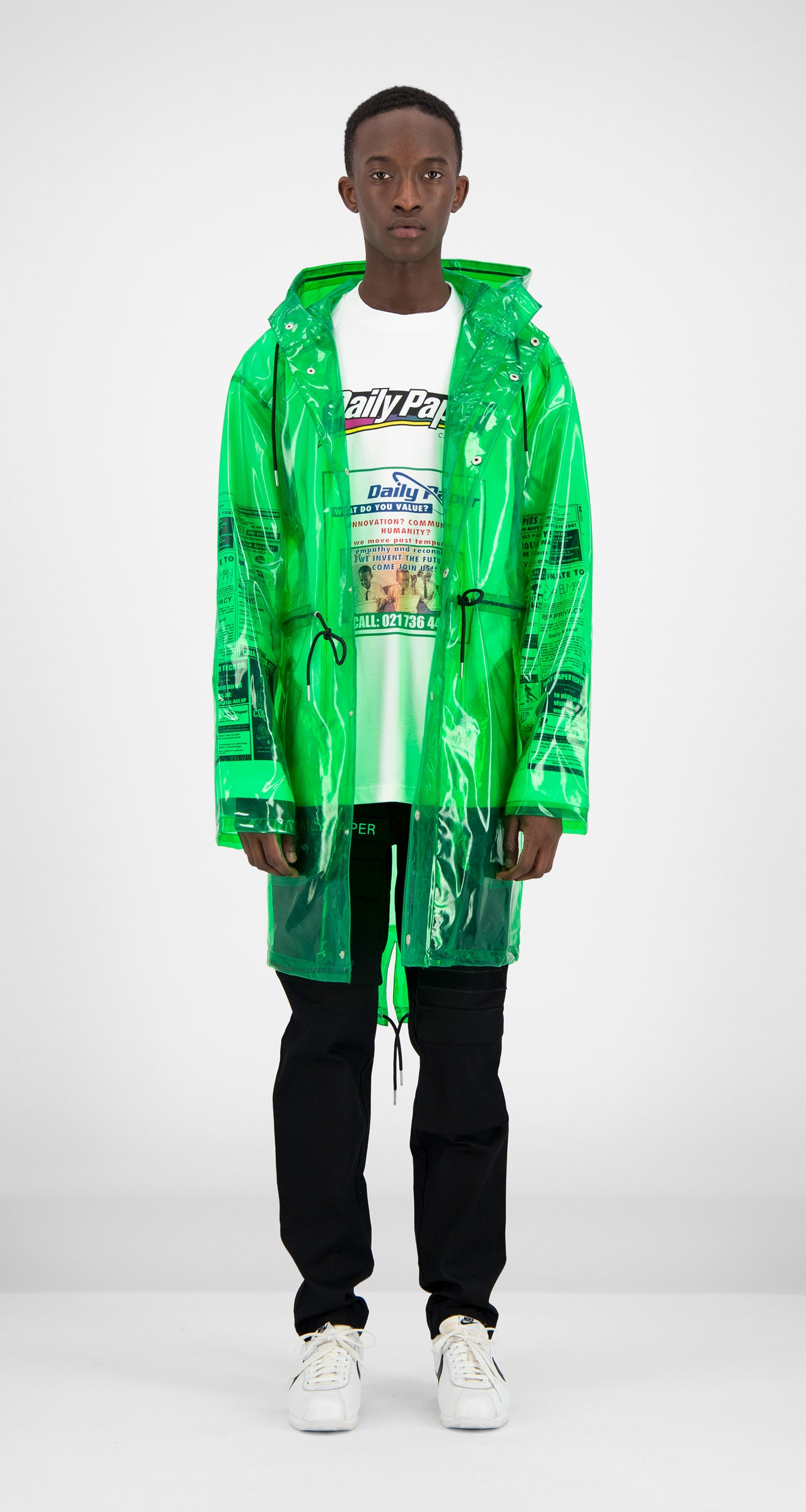 Daily Paper - Green Transparent Fatec Raincoat Men