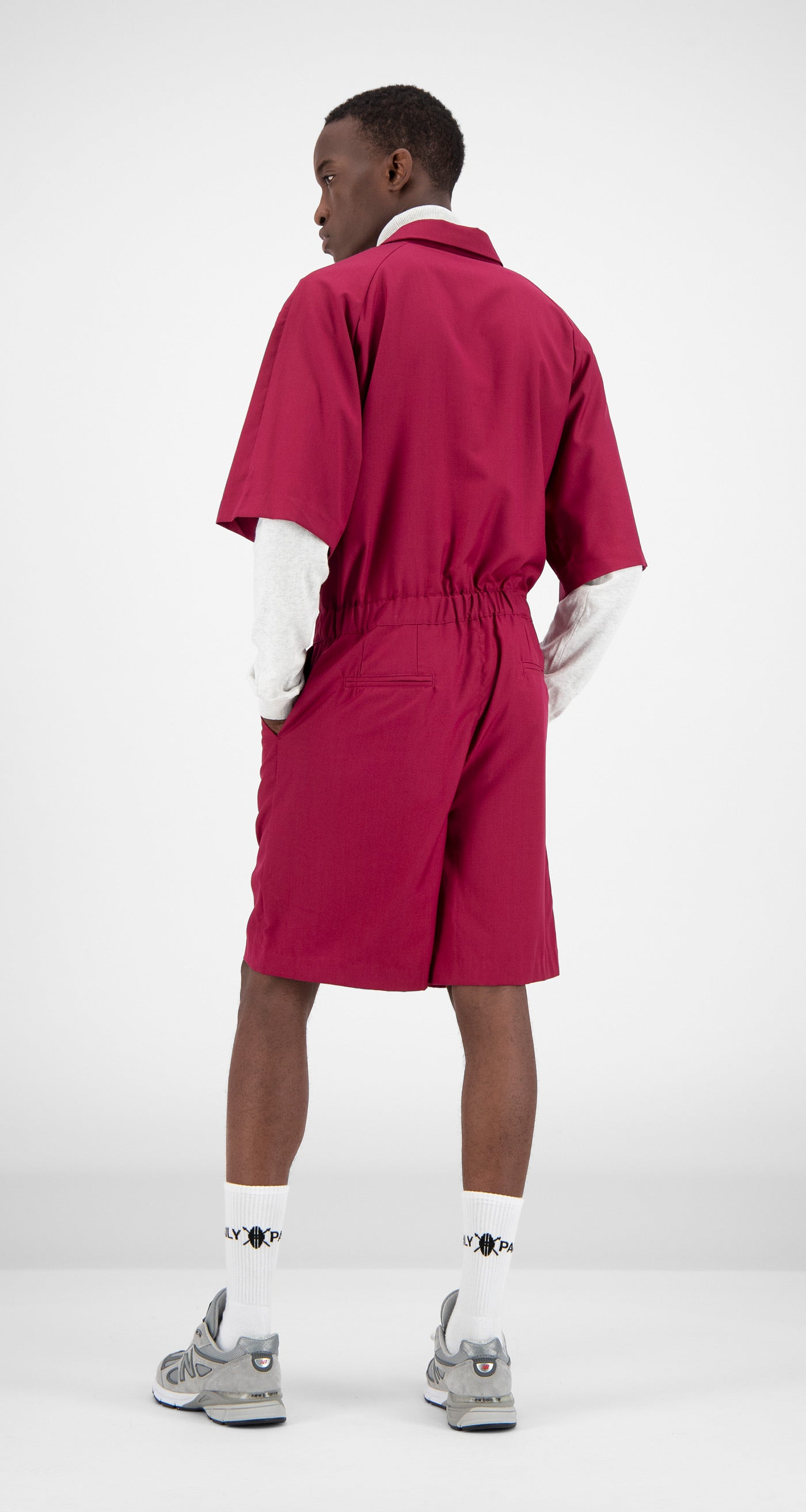 Daily Paper - Red Fares Jumpsuit Men Rear