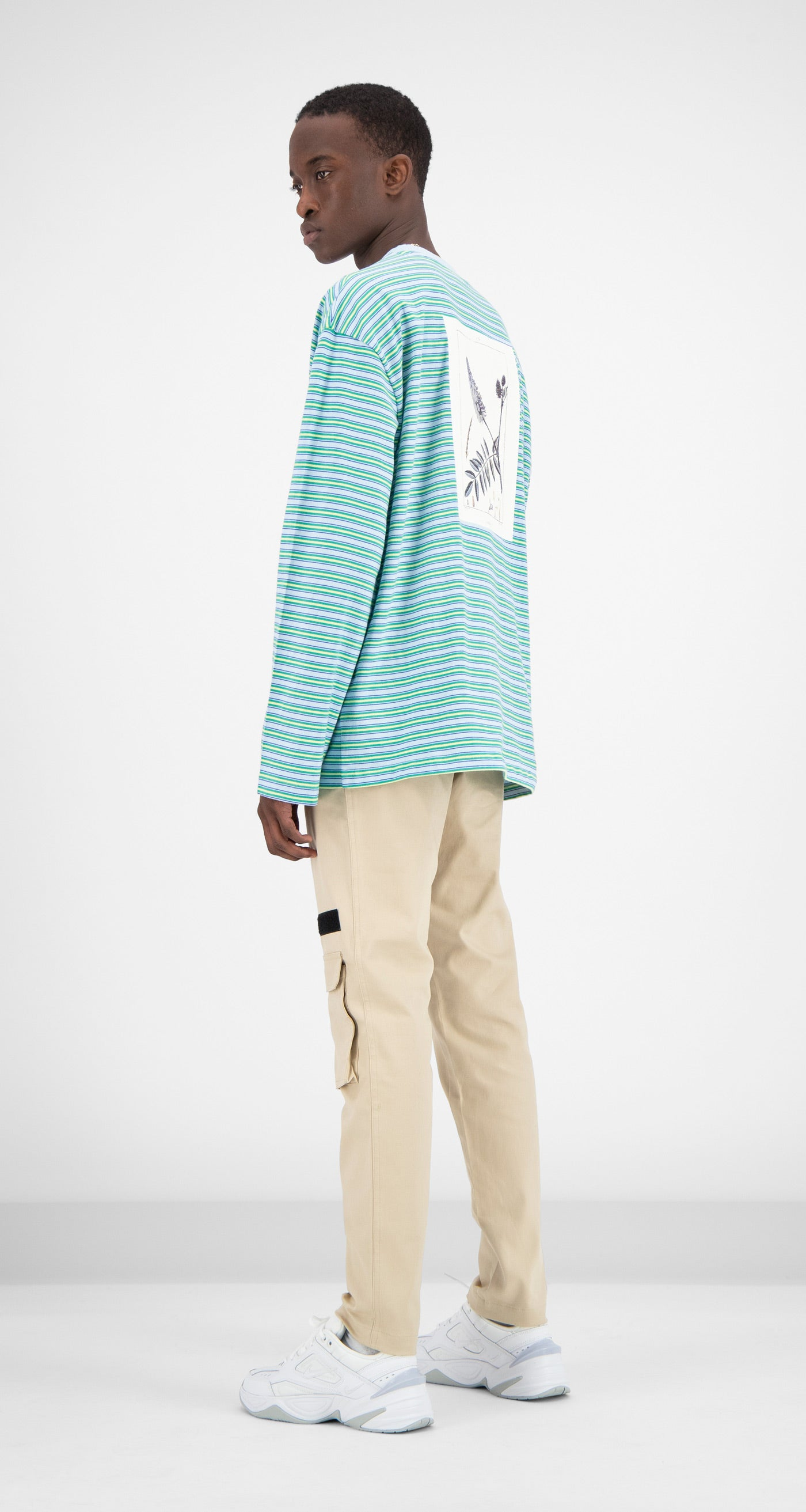 Daily Paper - Light Blue Striped Fong Longsleeve Men Rear