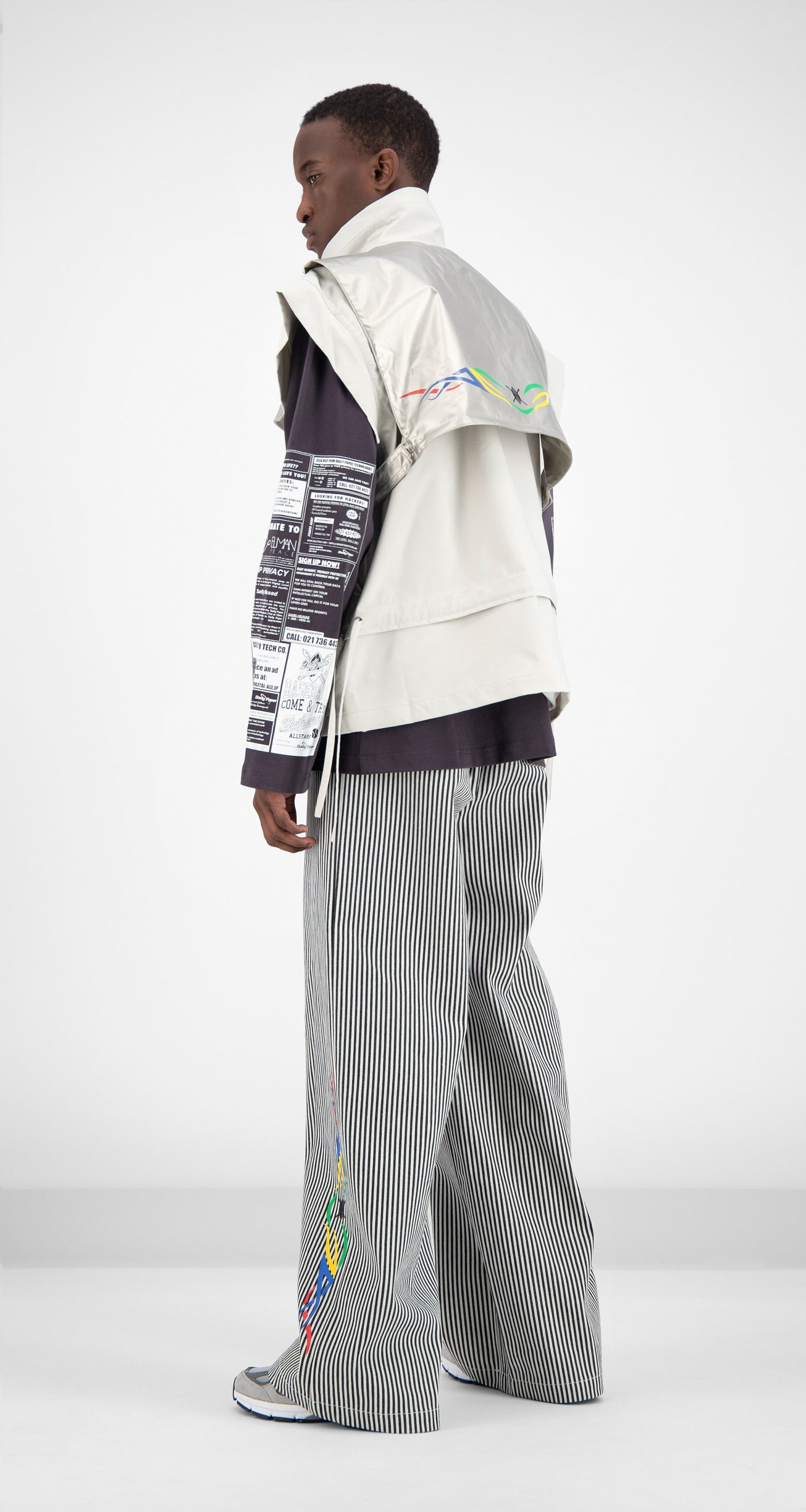Daily Paper - Light Grey Fafari Jacket Men Rear