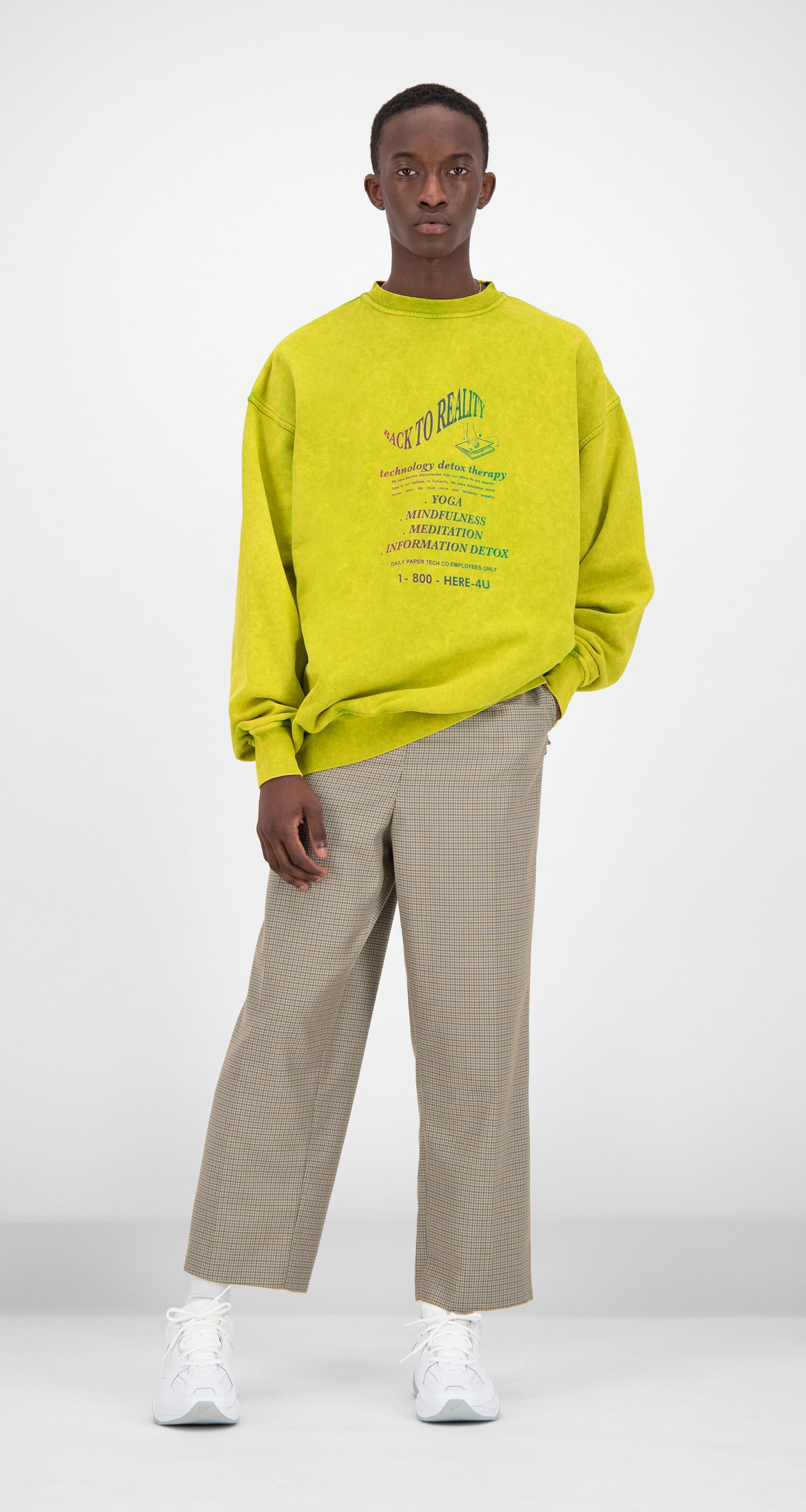 Daily Paper - Yellow Fadu Sweater Men