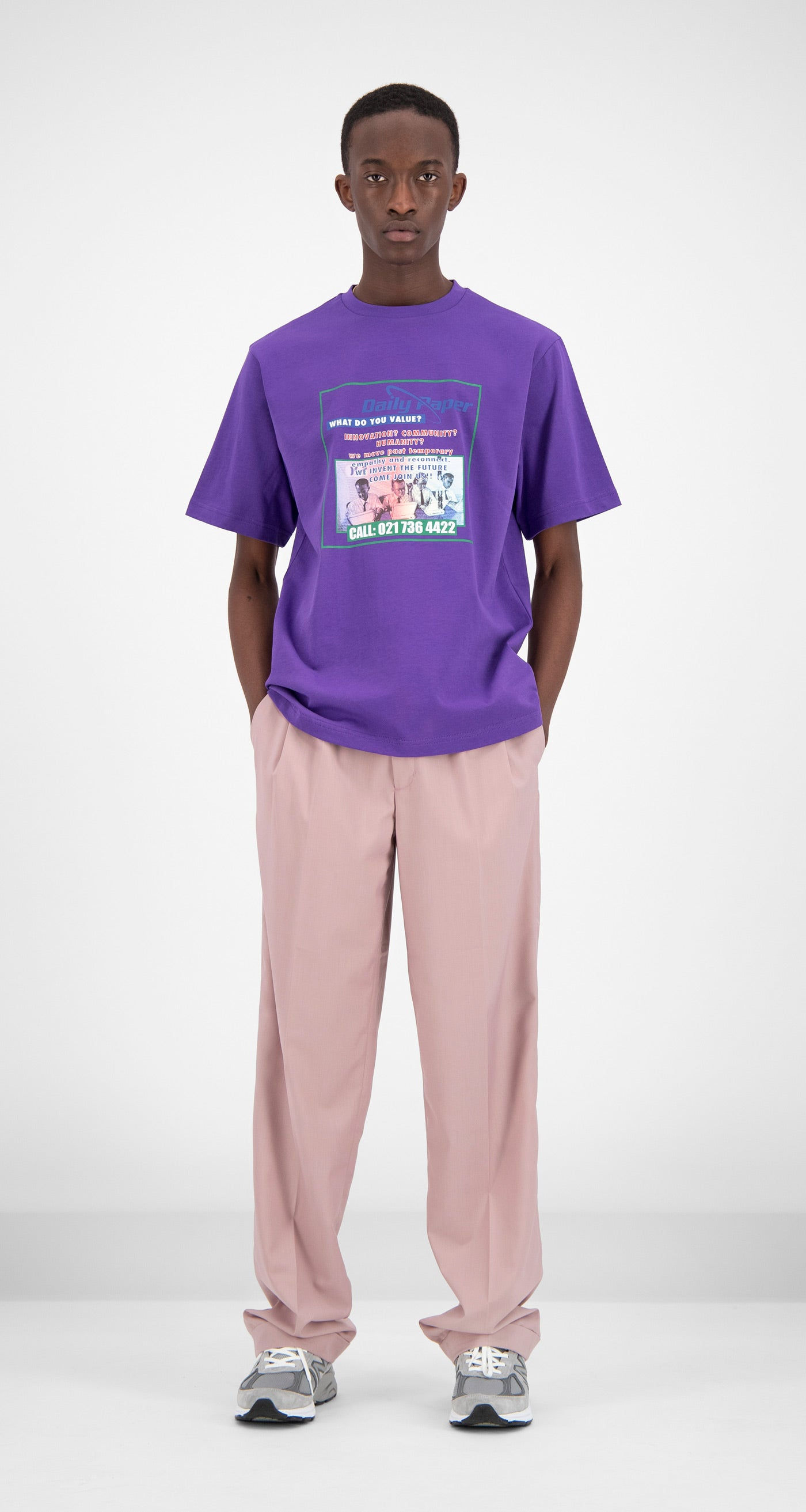 Daily Paper - Purple Fakry T-Shirt Men