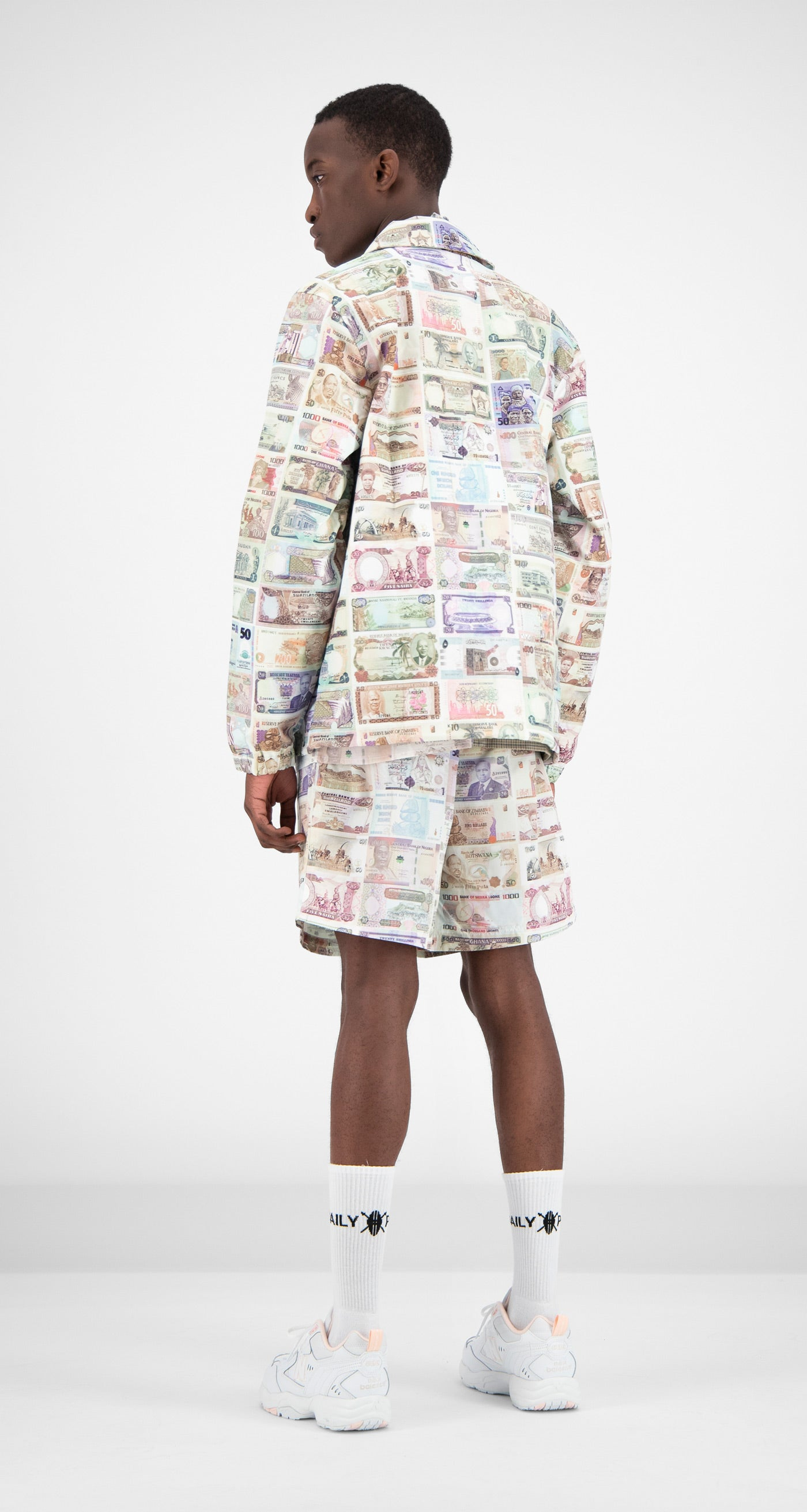 Daily Paper - Printed Money Foach Jacket Men Rear