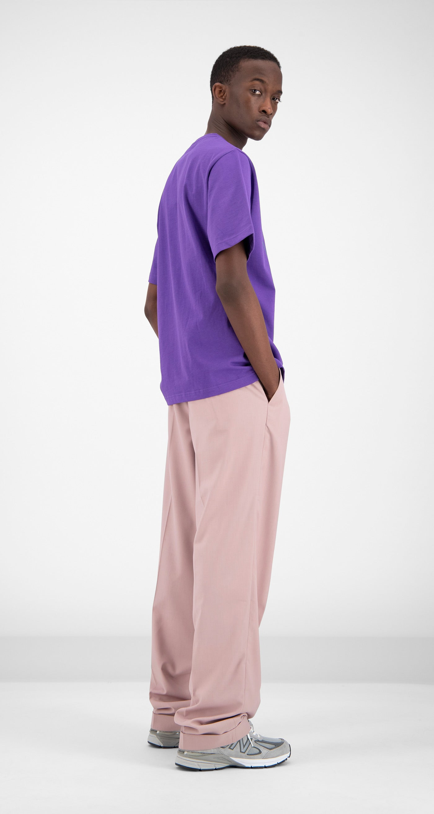 Daily Paper - Purple Fakry T-Shirt Men Rear