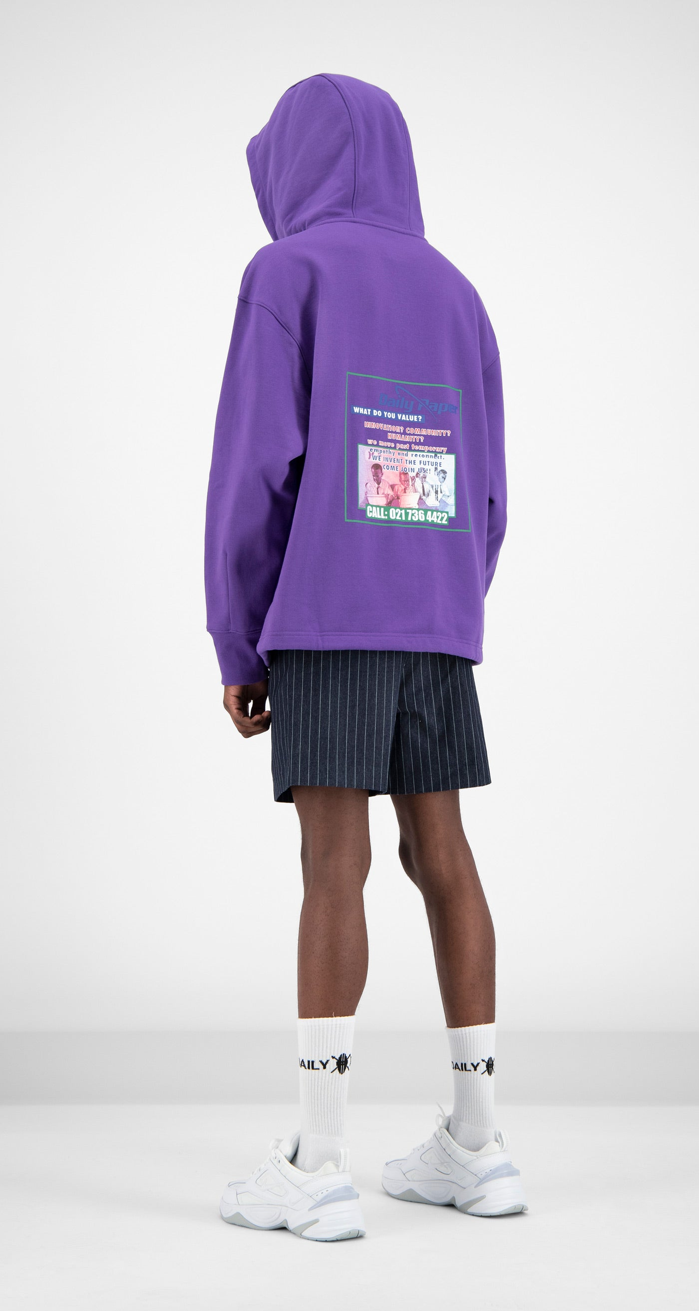 Daily Paper - Purple Fadraw Hoody Men