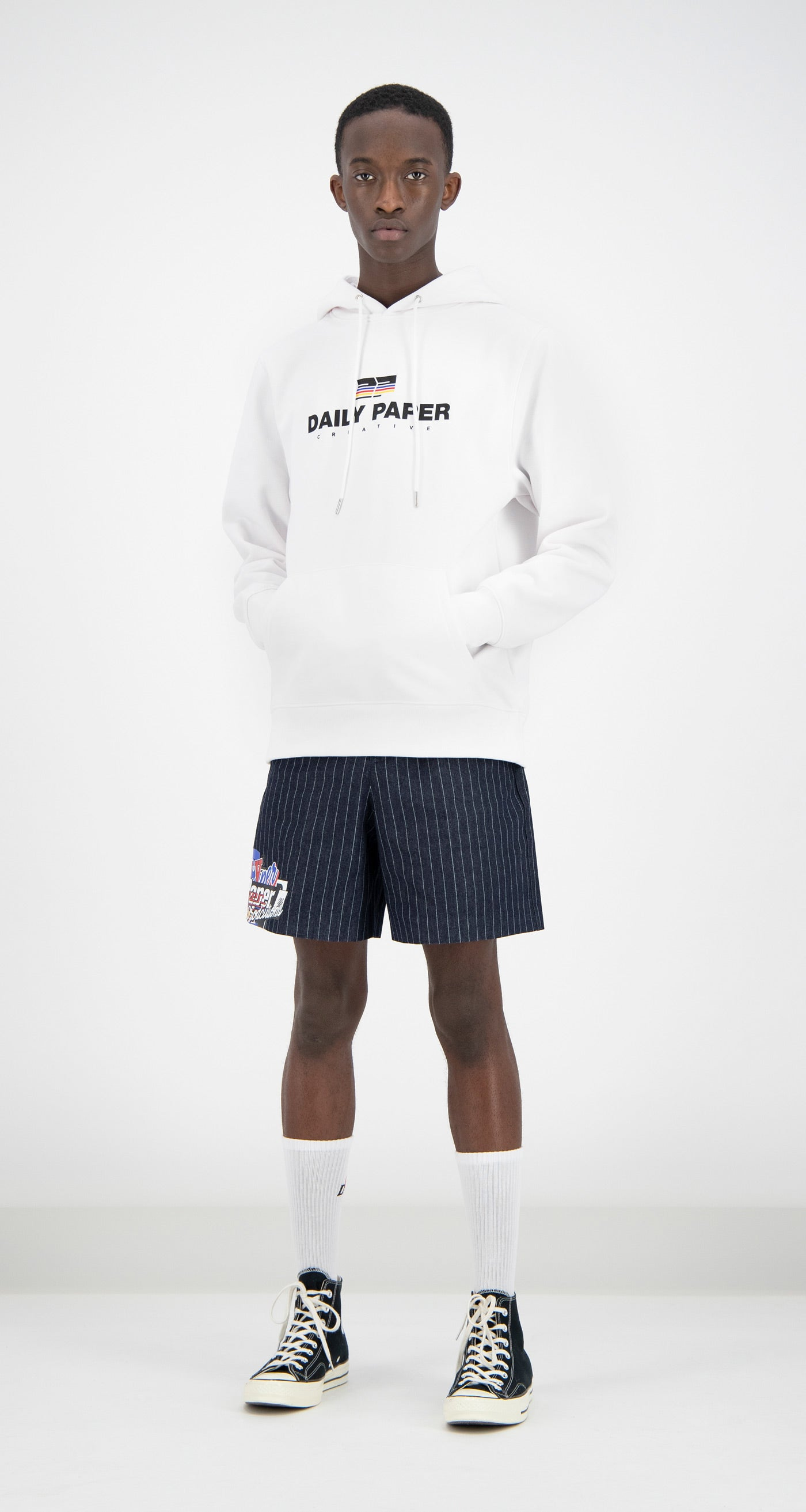 Daily Paper - White Faber Hoody Men