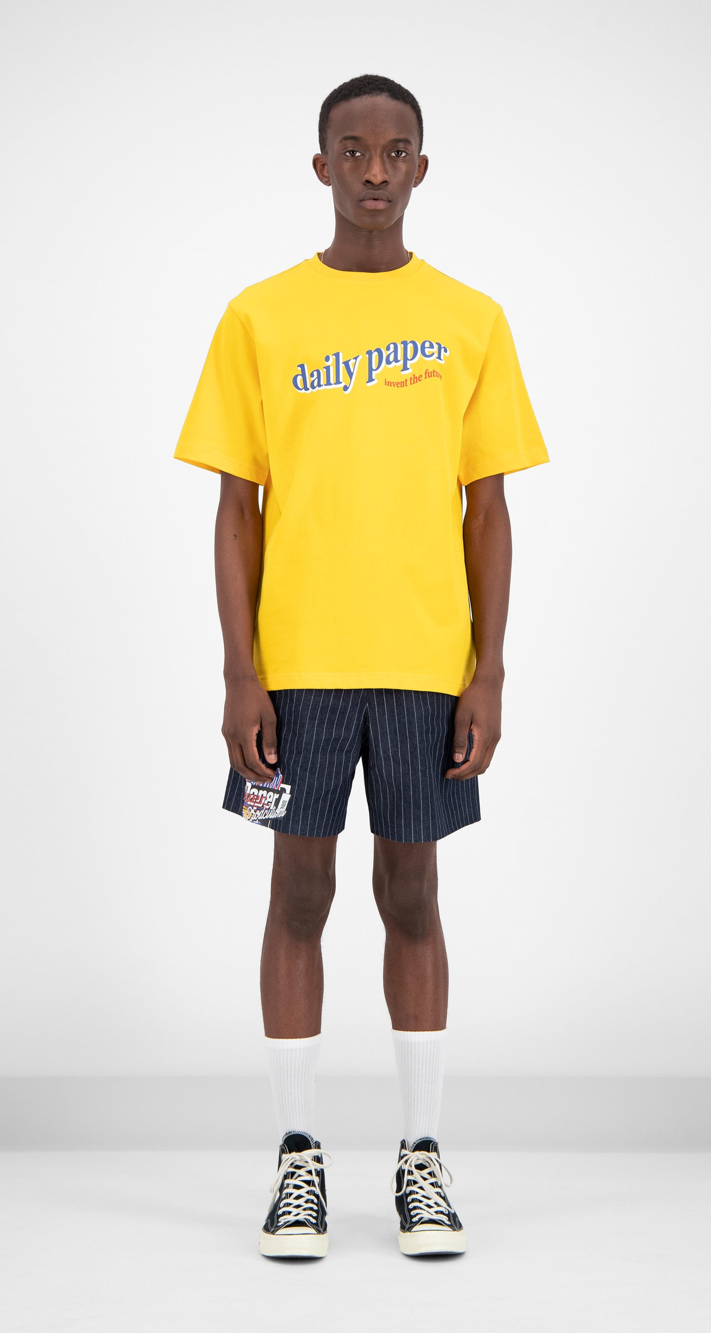 Daily Paper - Yellow Fellen T-Shirt Men Front