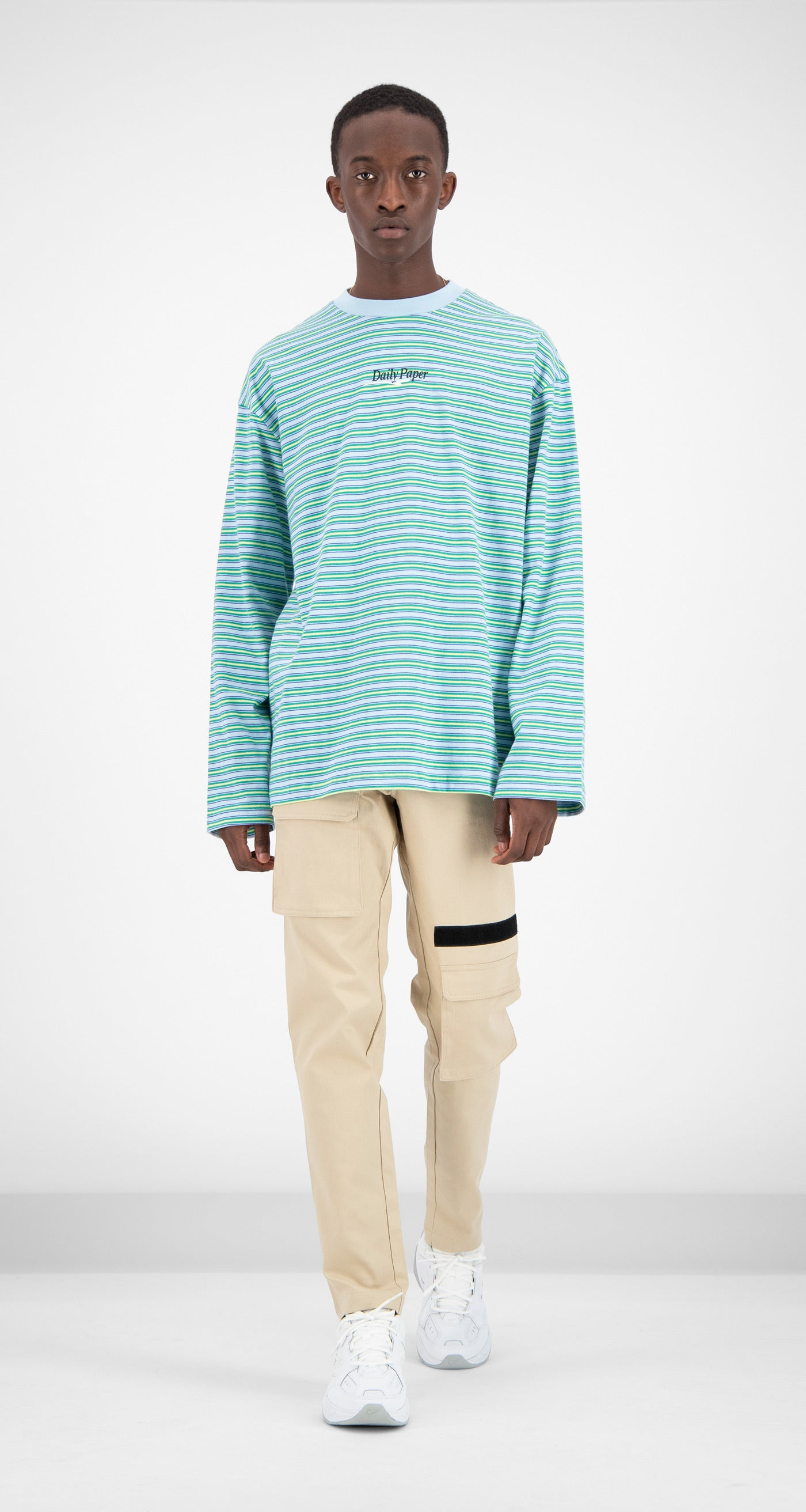 Daily Paper - Light Blue Striped Fong Longsleeve Men