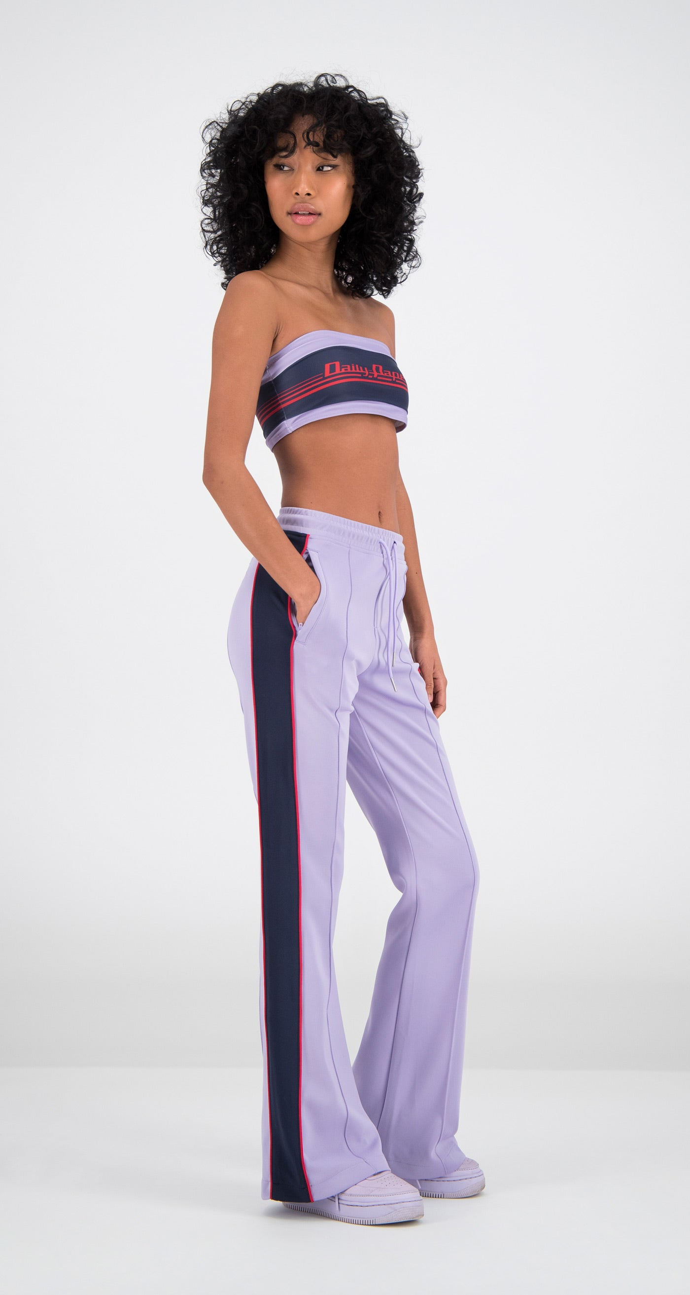 Daily Paper - Lilac Flair Tape Pants Women