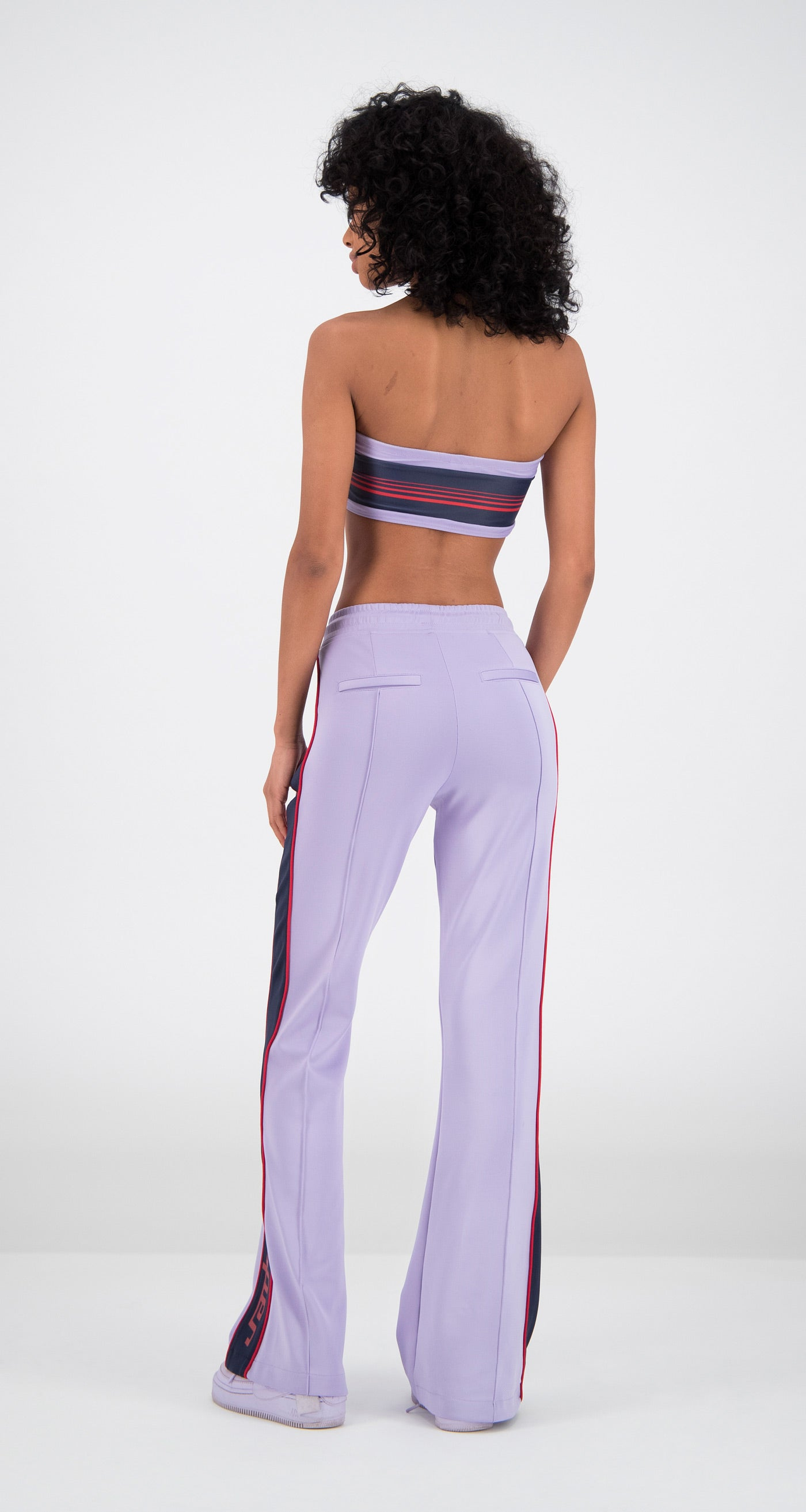 Daily Paper - Lilac Flair Tape Pants Women Rear