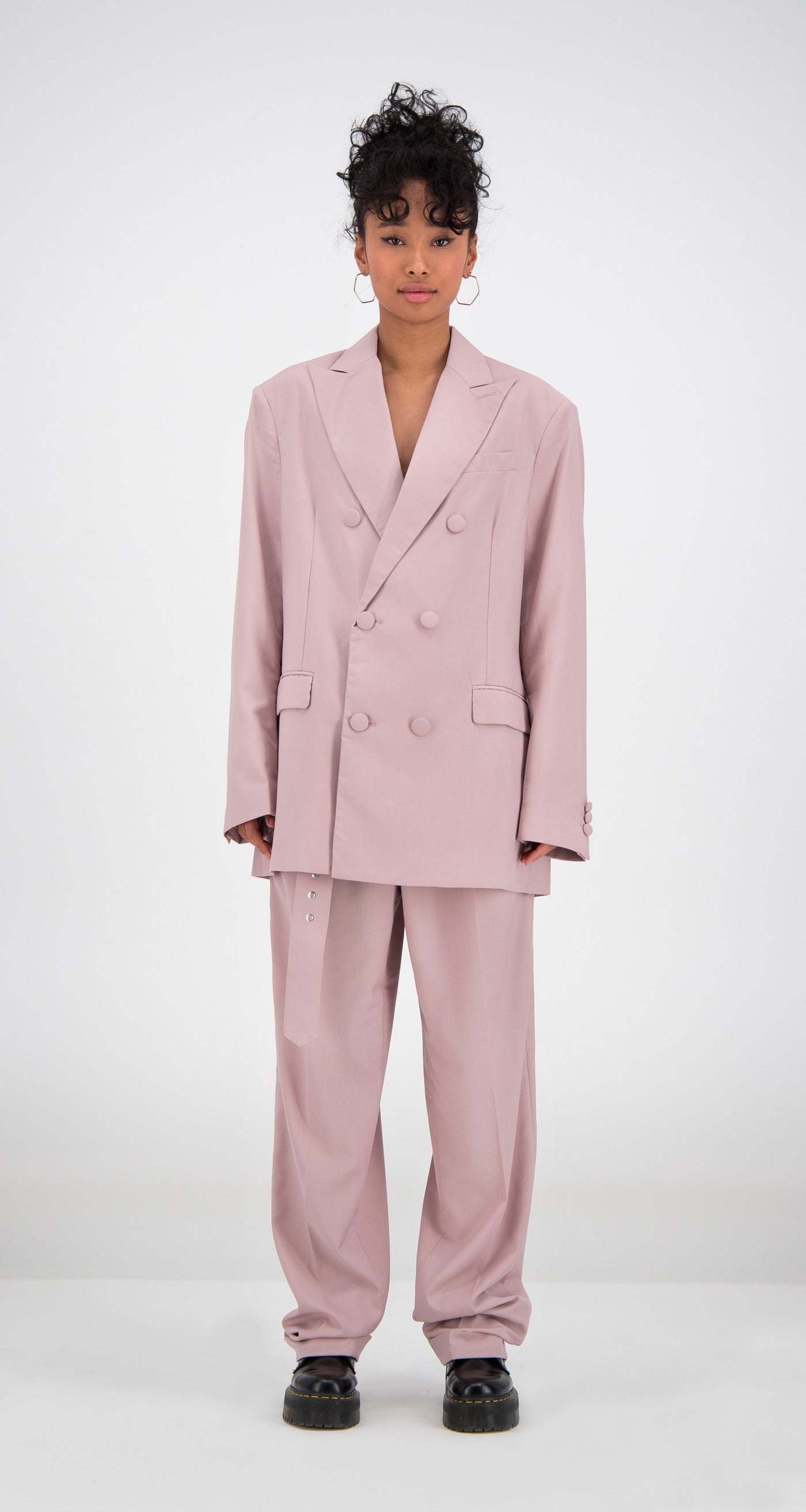 Daily Paper - Old Pink Oversized Fecker Blazer Women Front