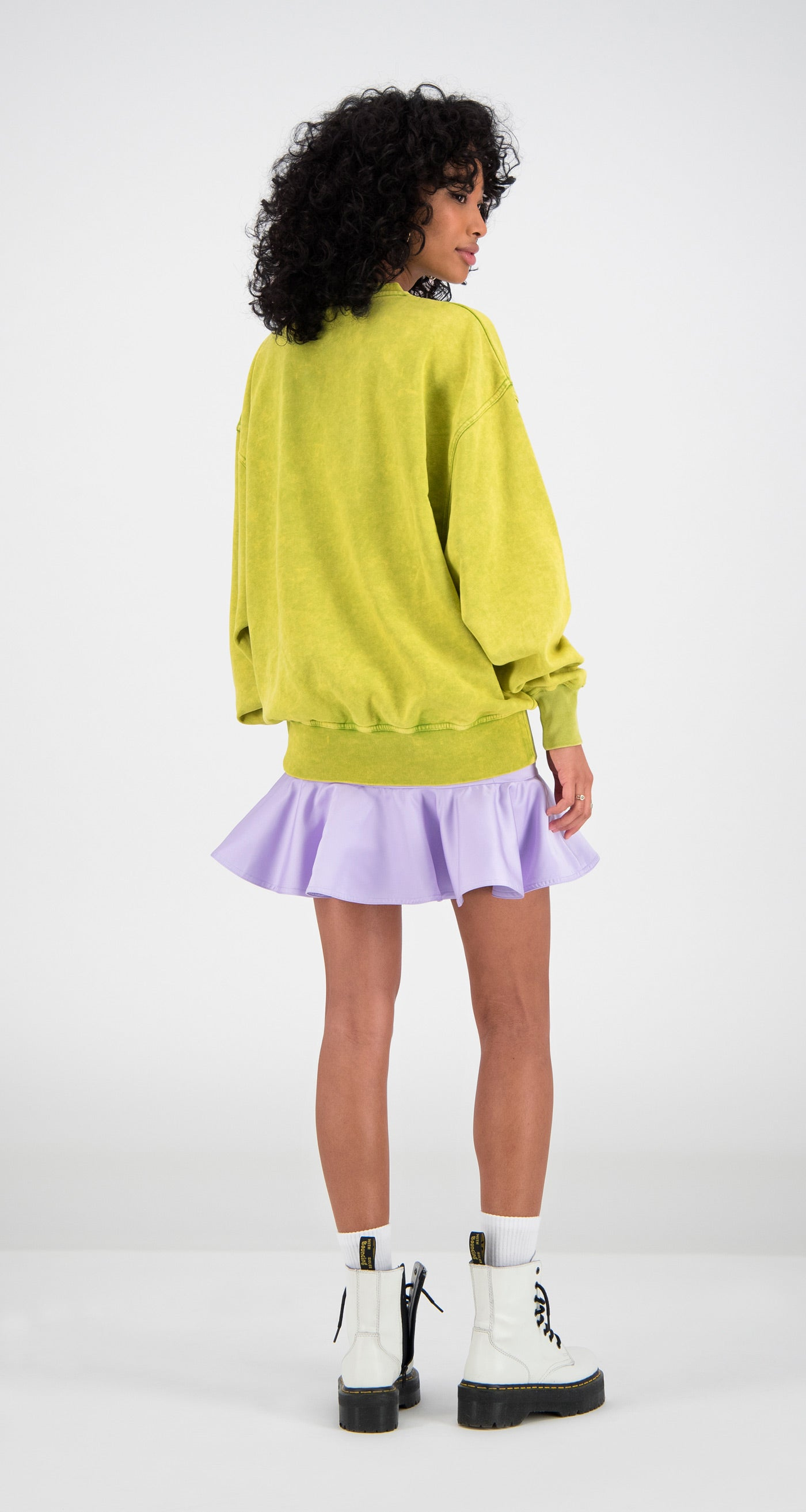 Daily Paper - Yellow Fadu Oversized Sweater Women Rear