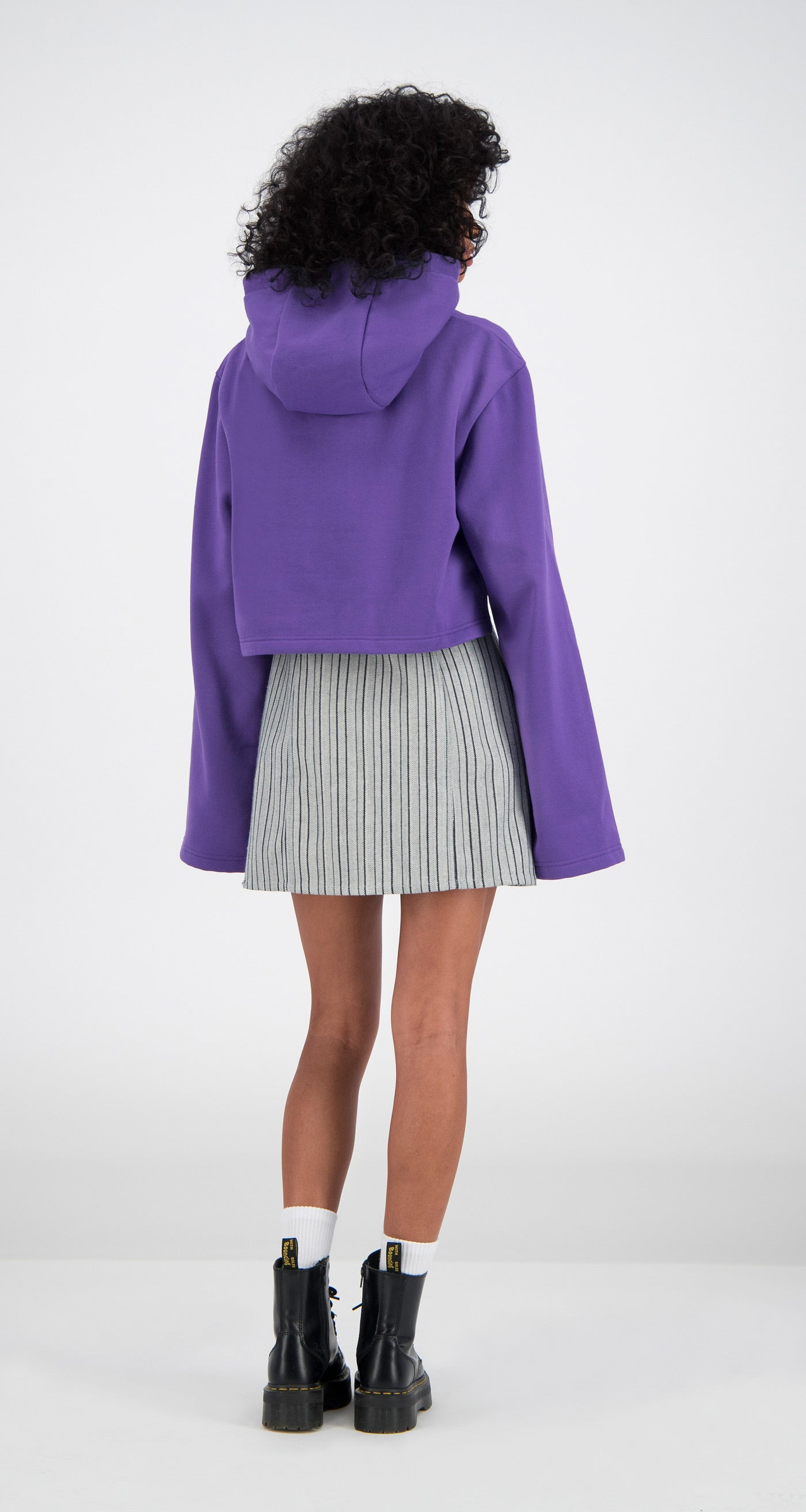 Daily Paper - Purple Cropped Fello Hoody Women Rear