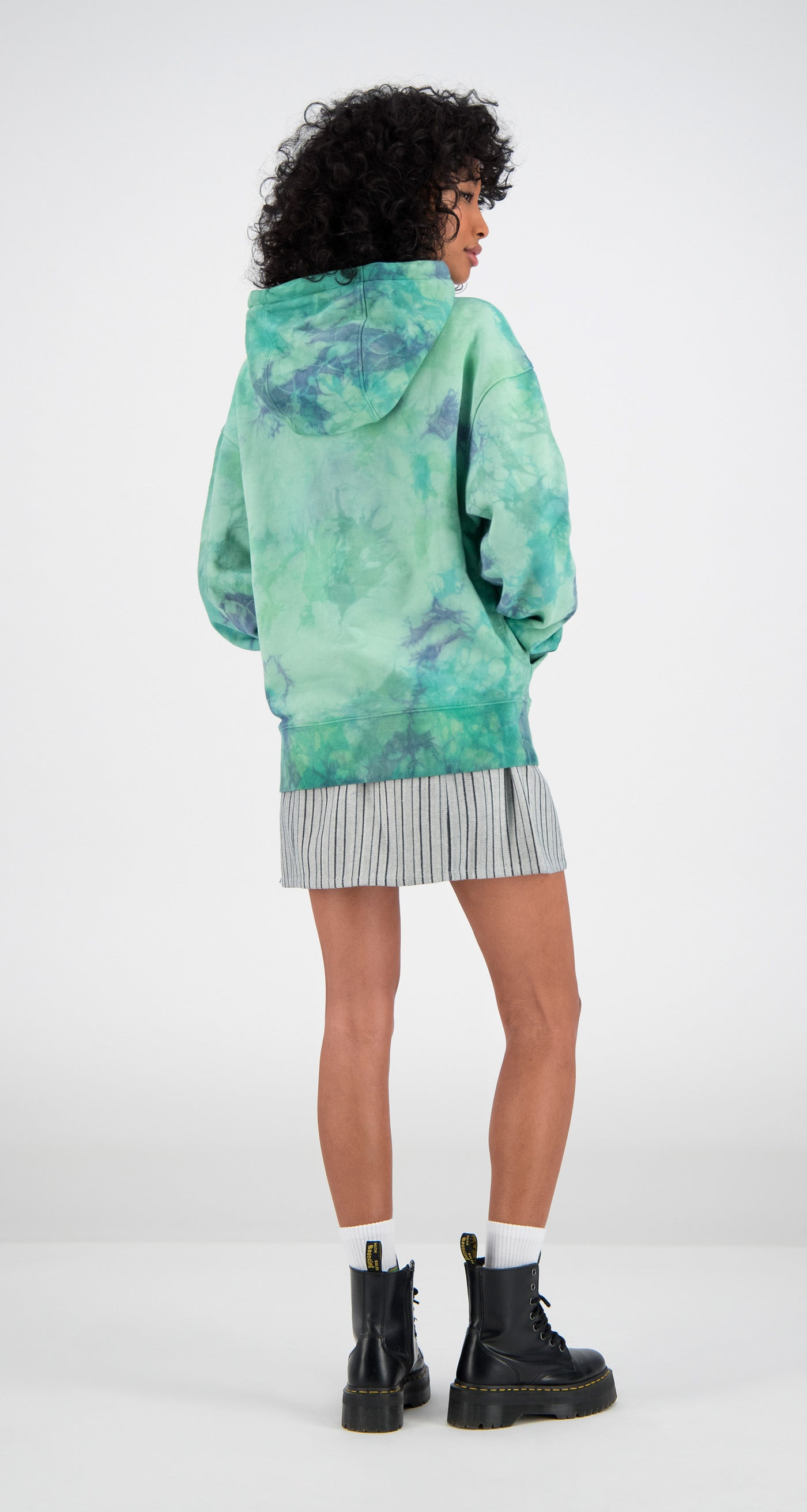 Daily Paper - Tie Dye Falis Oversized Hoody Women Rear