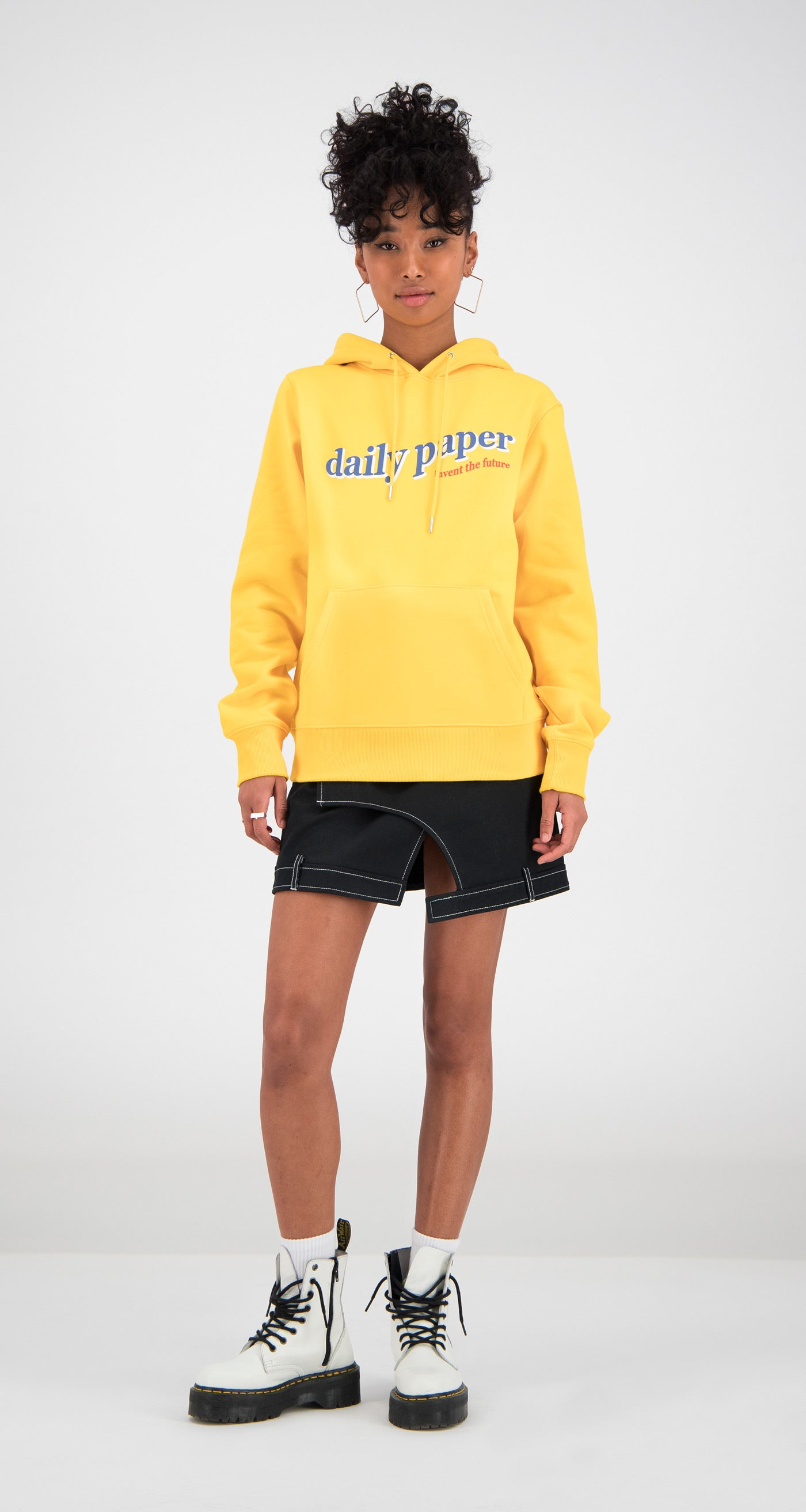 Daily Paper - Yellow Ferron Hoody Women Front