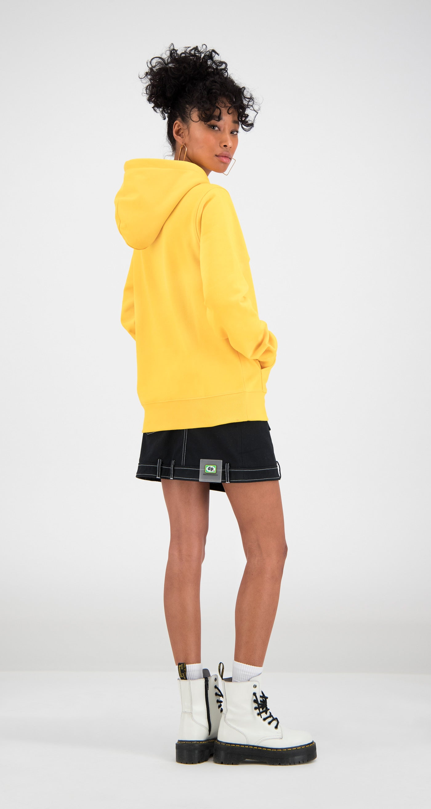 Daily Paper - Yellow Ferron Hoody Women Rear