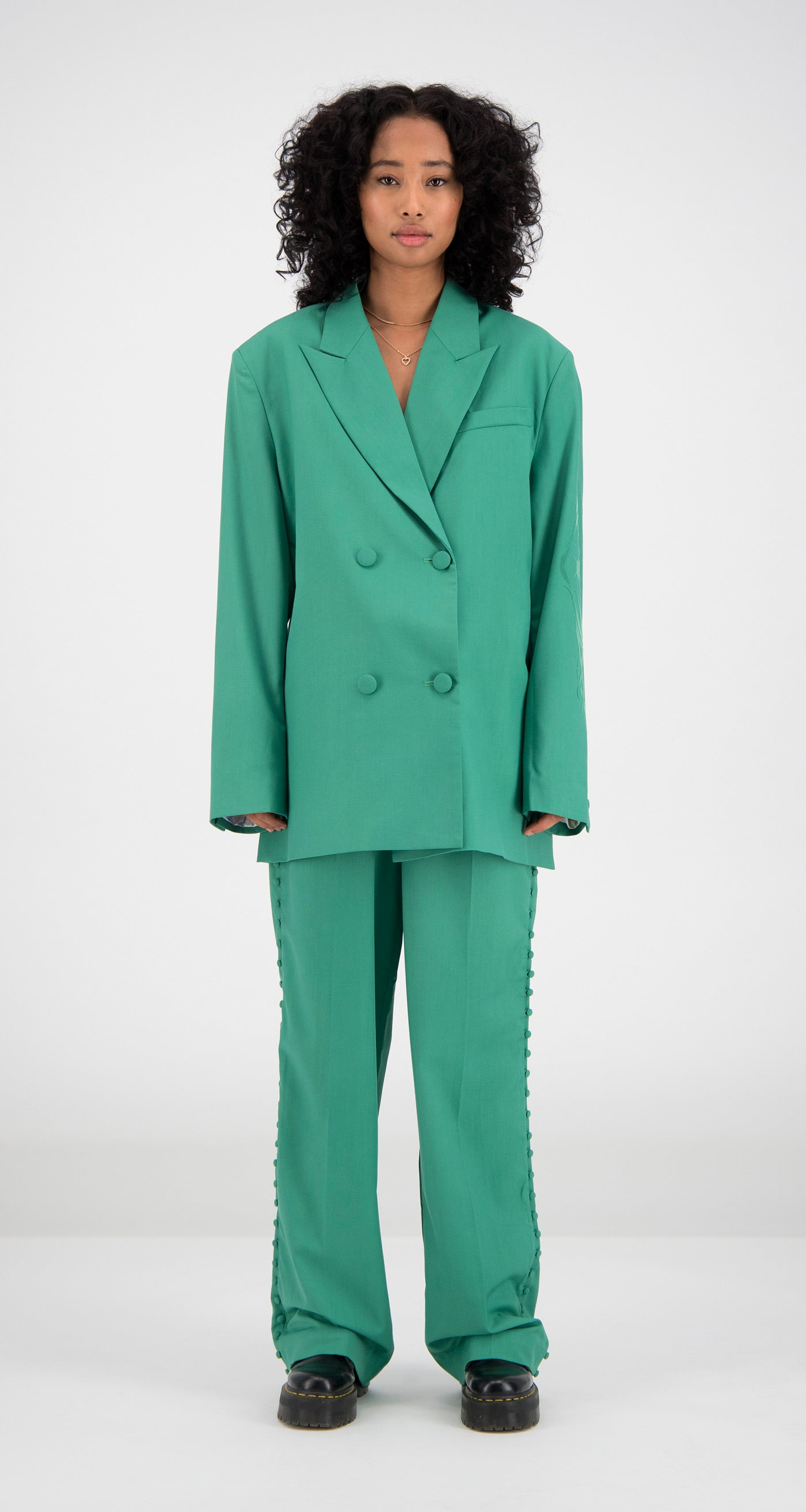 Daily Paper - Green Fern Blazer Women Front