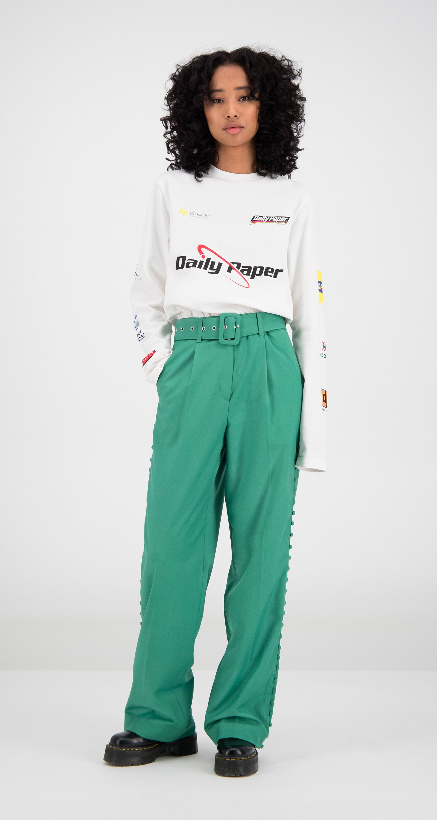 Daily Paper - Green Fin Pants Women Front