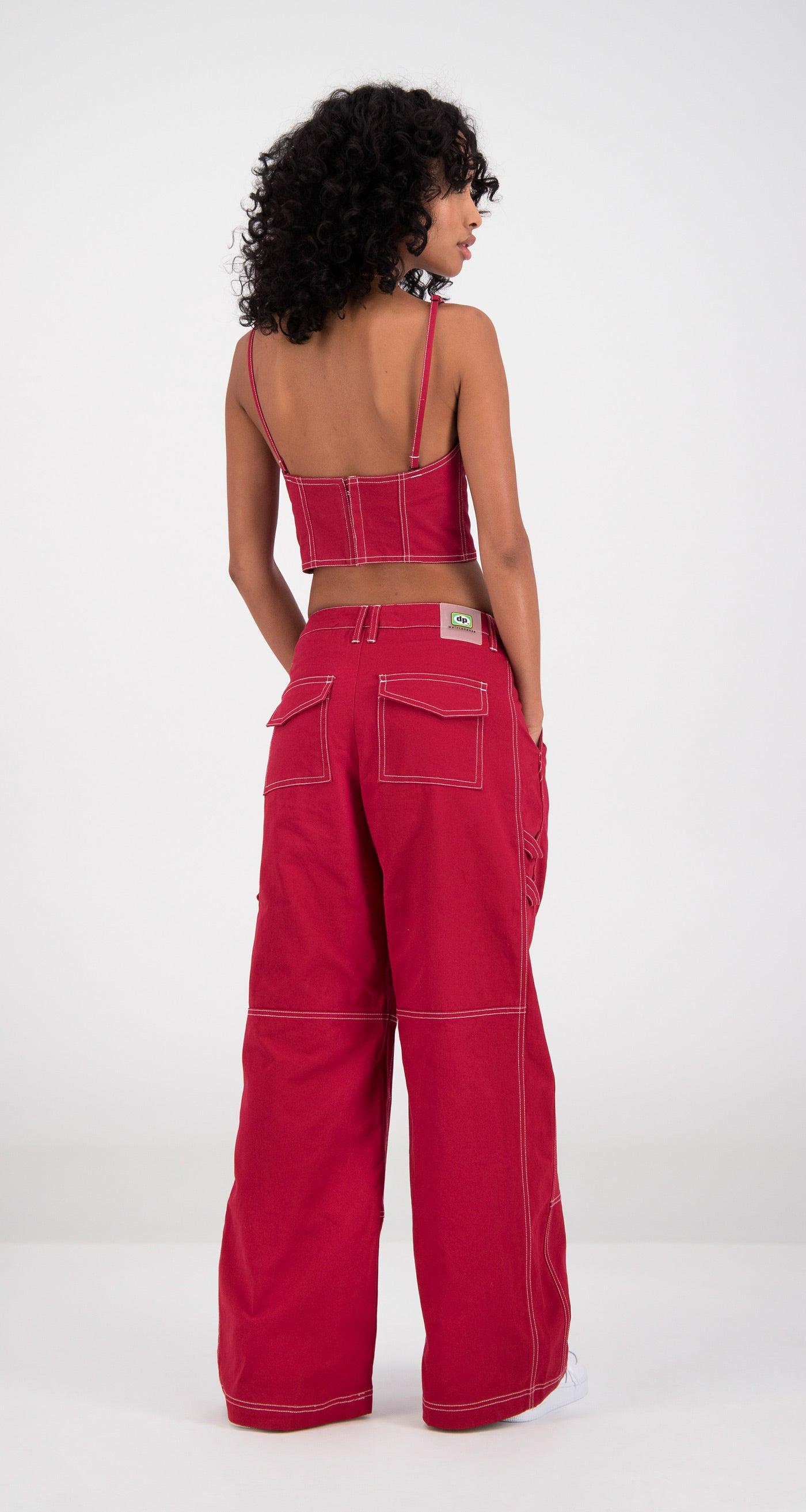 Daily Paper - Red Fena Top Women Rear