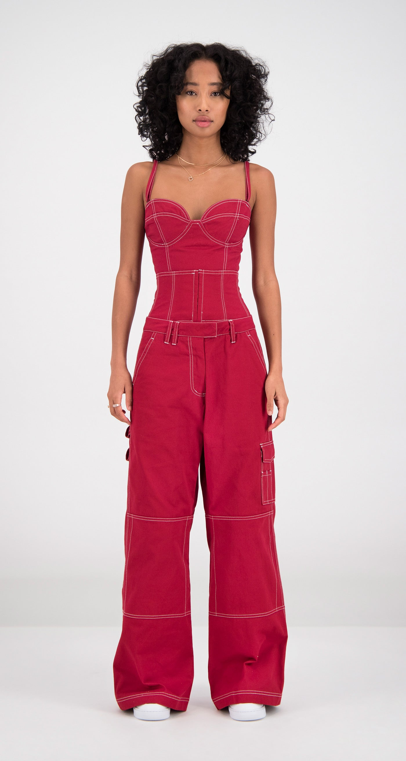 Daily Paper - Red Femma Pants Women Front