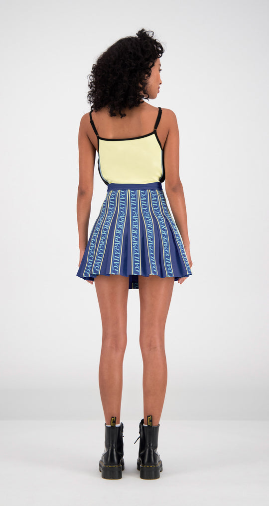 Daily Paper - Navy Fara Tape Skirt Women Rear