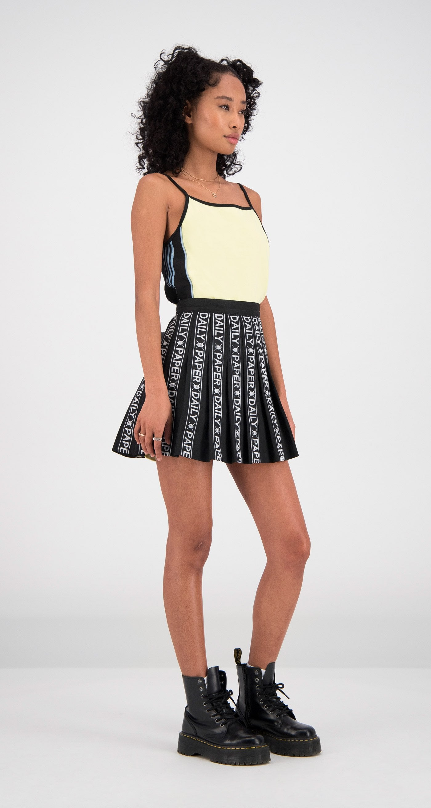 Daily Paper - Black Tape Logo Skirt Women