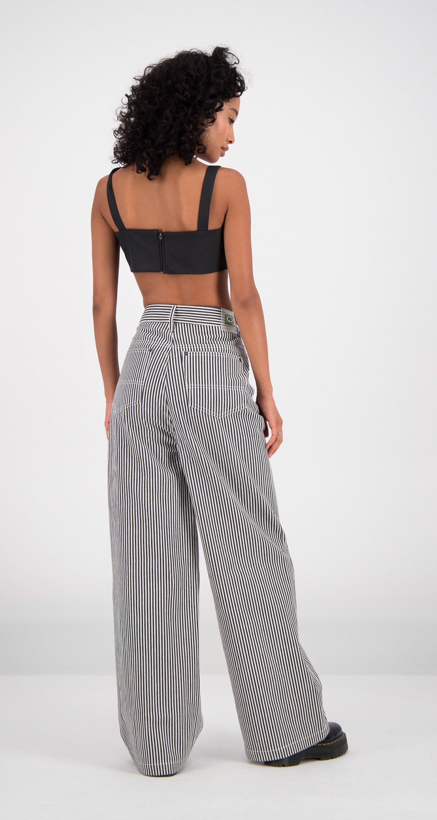 Daily Paper - Striped Fikir Wide Leg Pants Women Rear