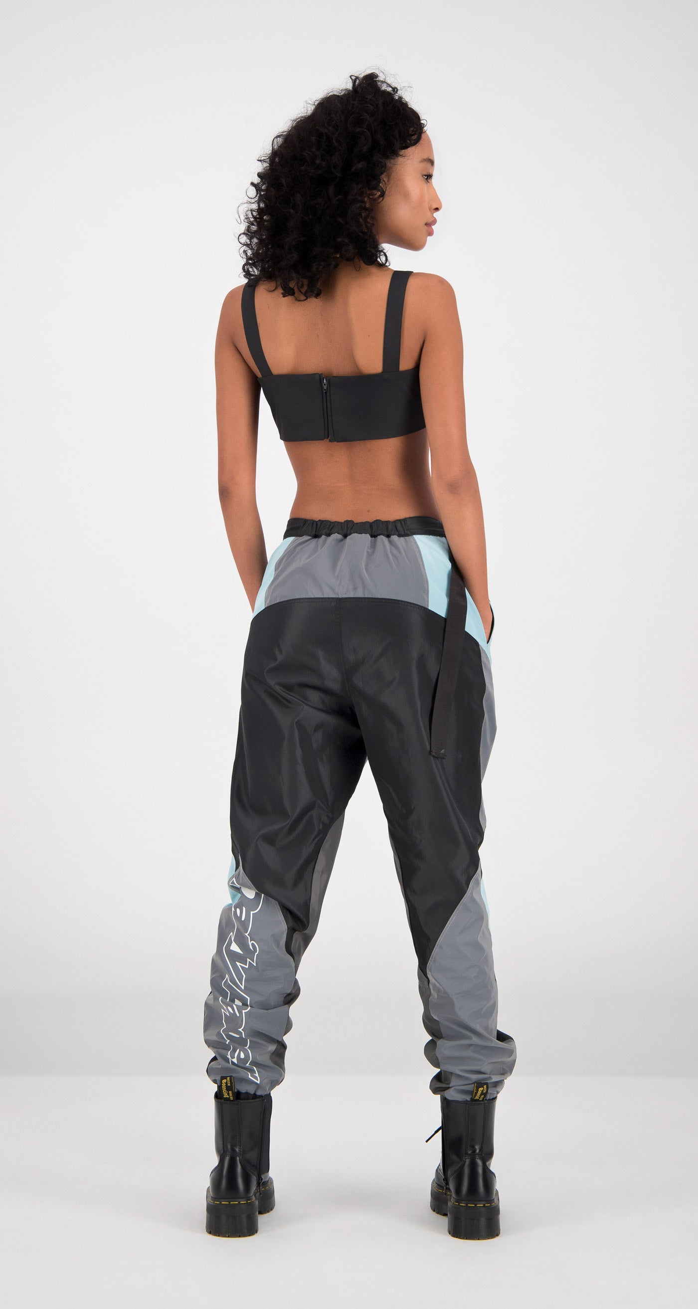Daily Paper - Light Blue Firt Pants Women Rear