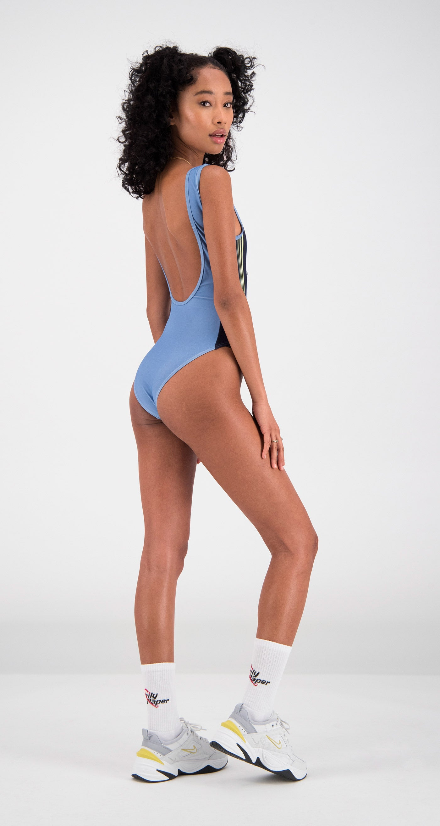 Daily Paper - Light Blue Filou Swimsuit Women Rear