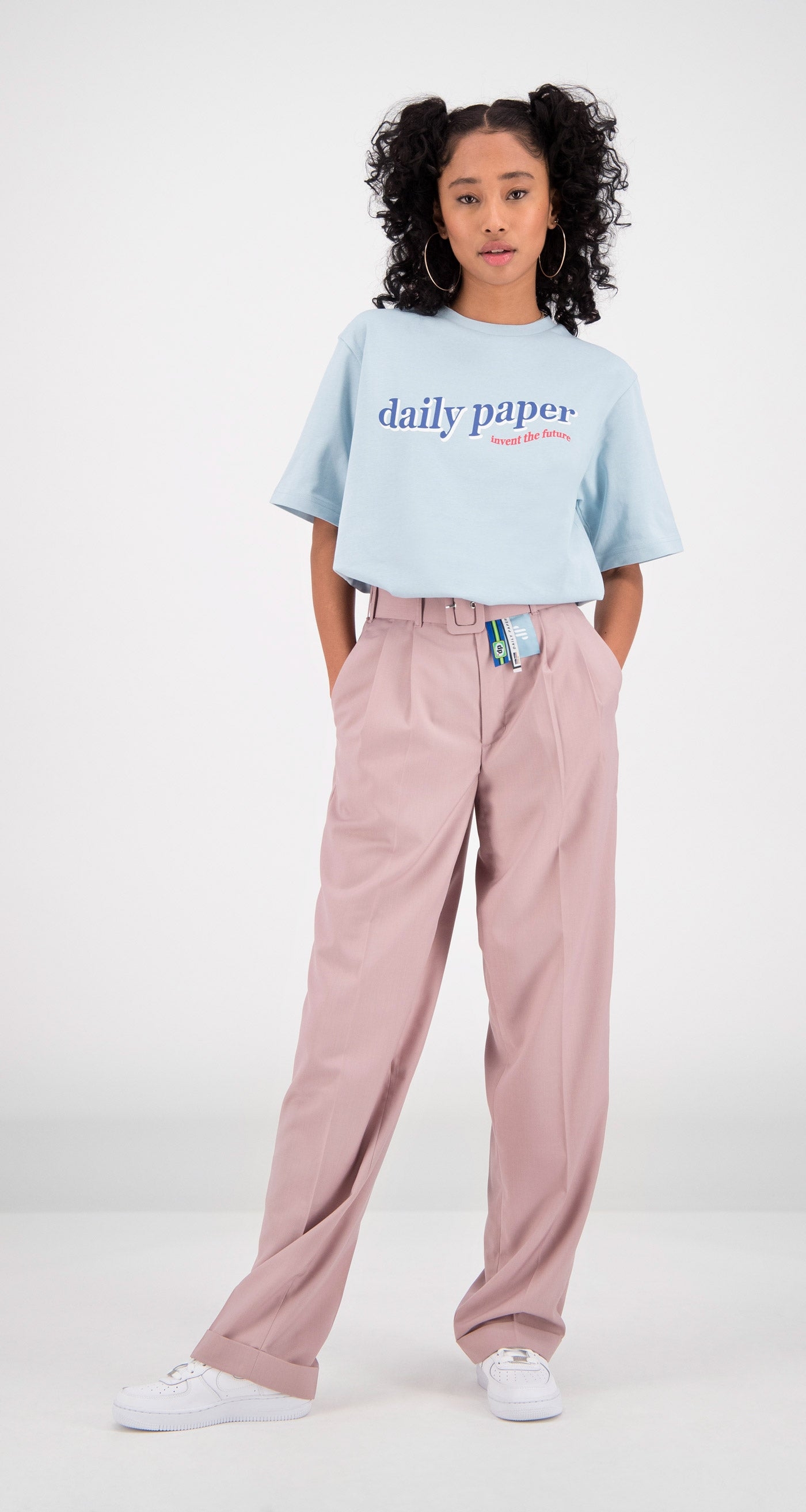 Daily Paper - Light Blue Fellen T-Shirt Women Front