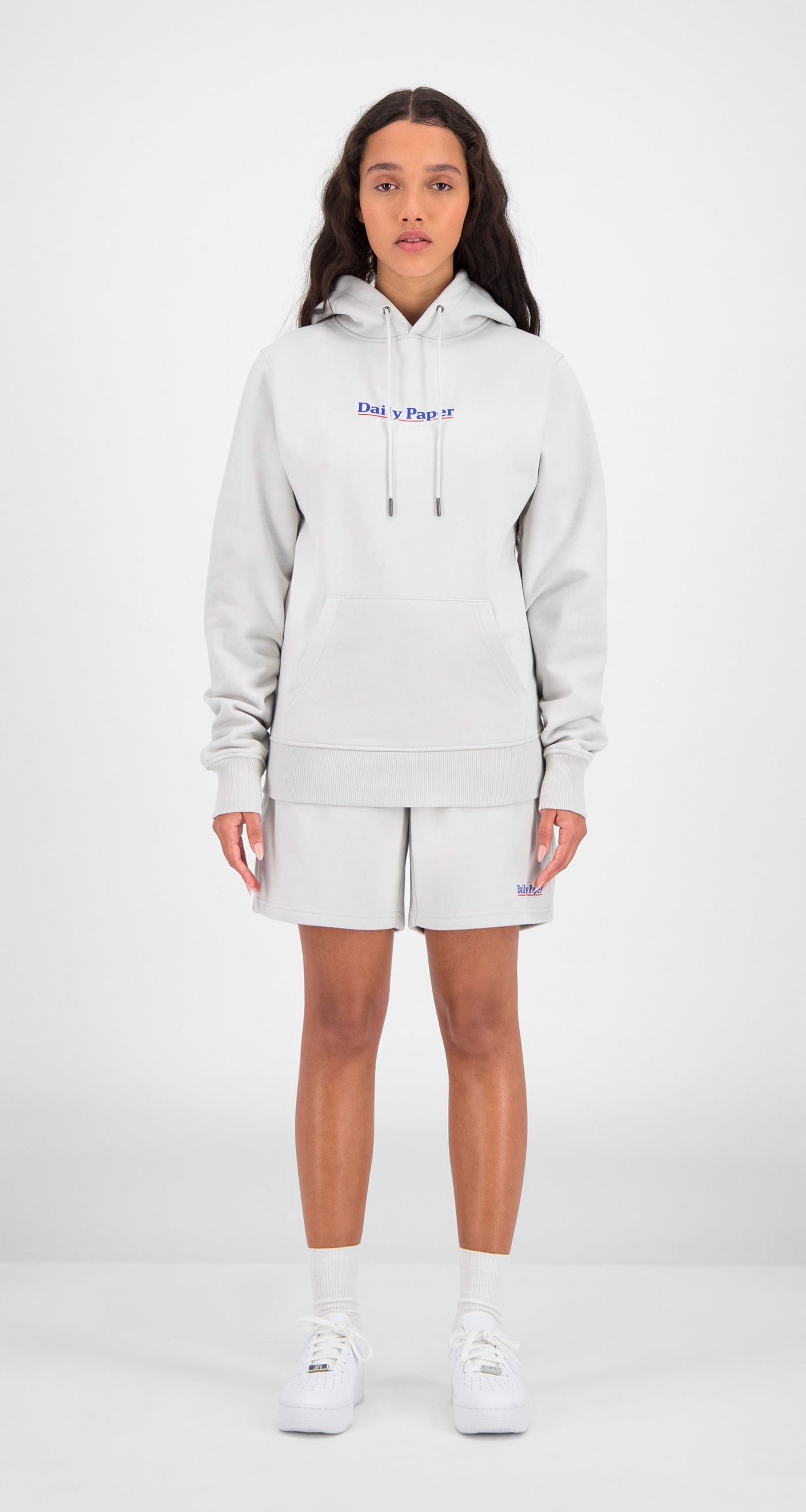 Daily Paper - Grey Essential Hoody Women Front