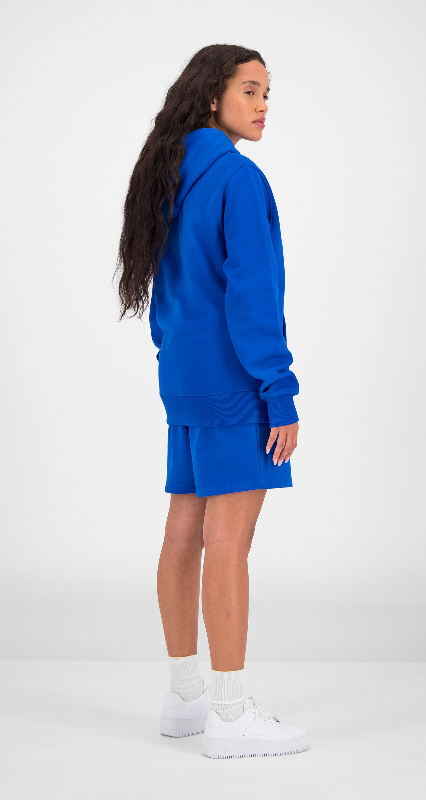 Daily Paper - Blue Essential Hoody Women Rear