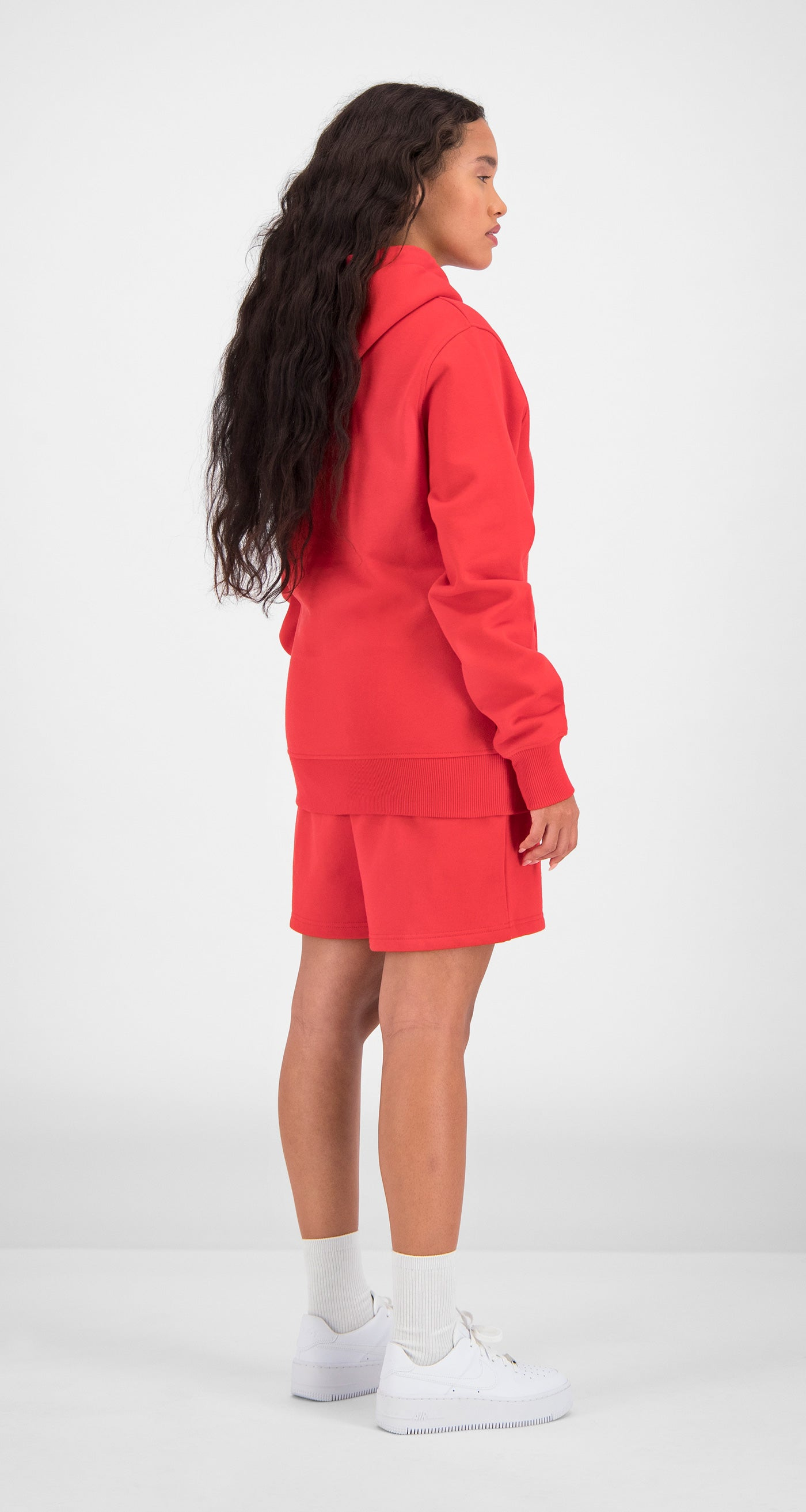 Daily Paper - Red Essential Hoody Women Rear