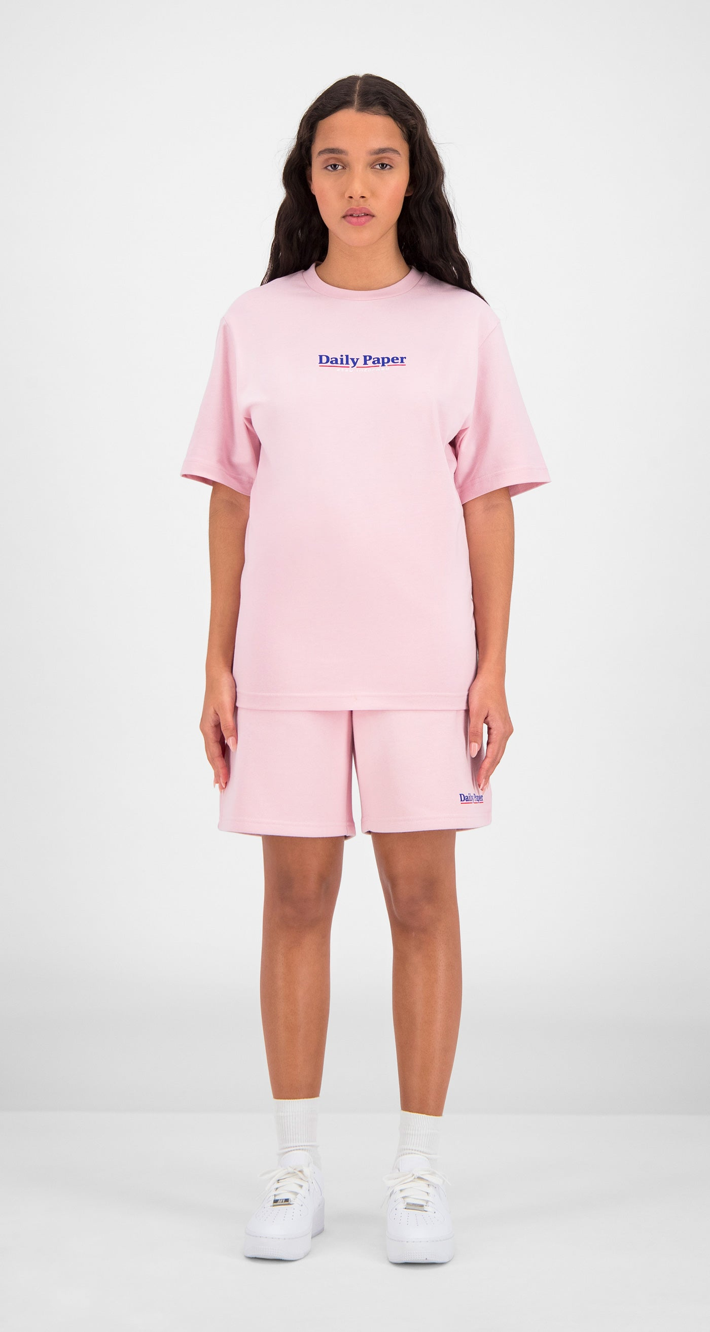 Daily Paper - Pink Essential T-Shirt Women Front