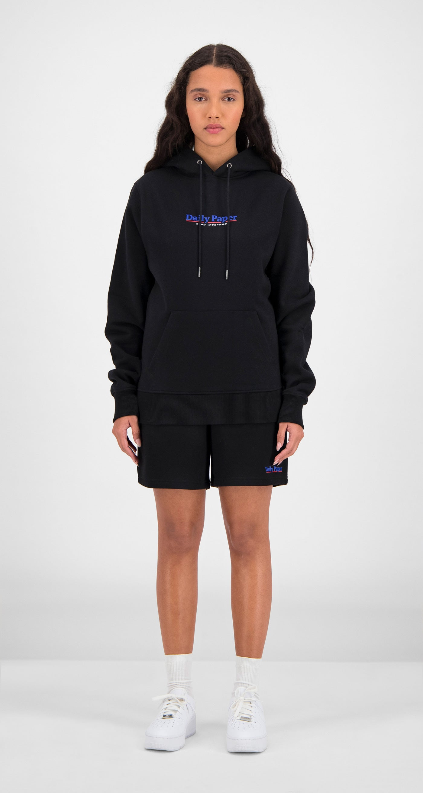 Daily Paper - Black Essential Hoody Women Front