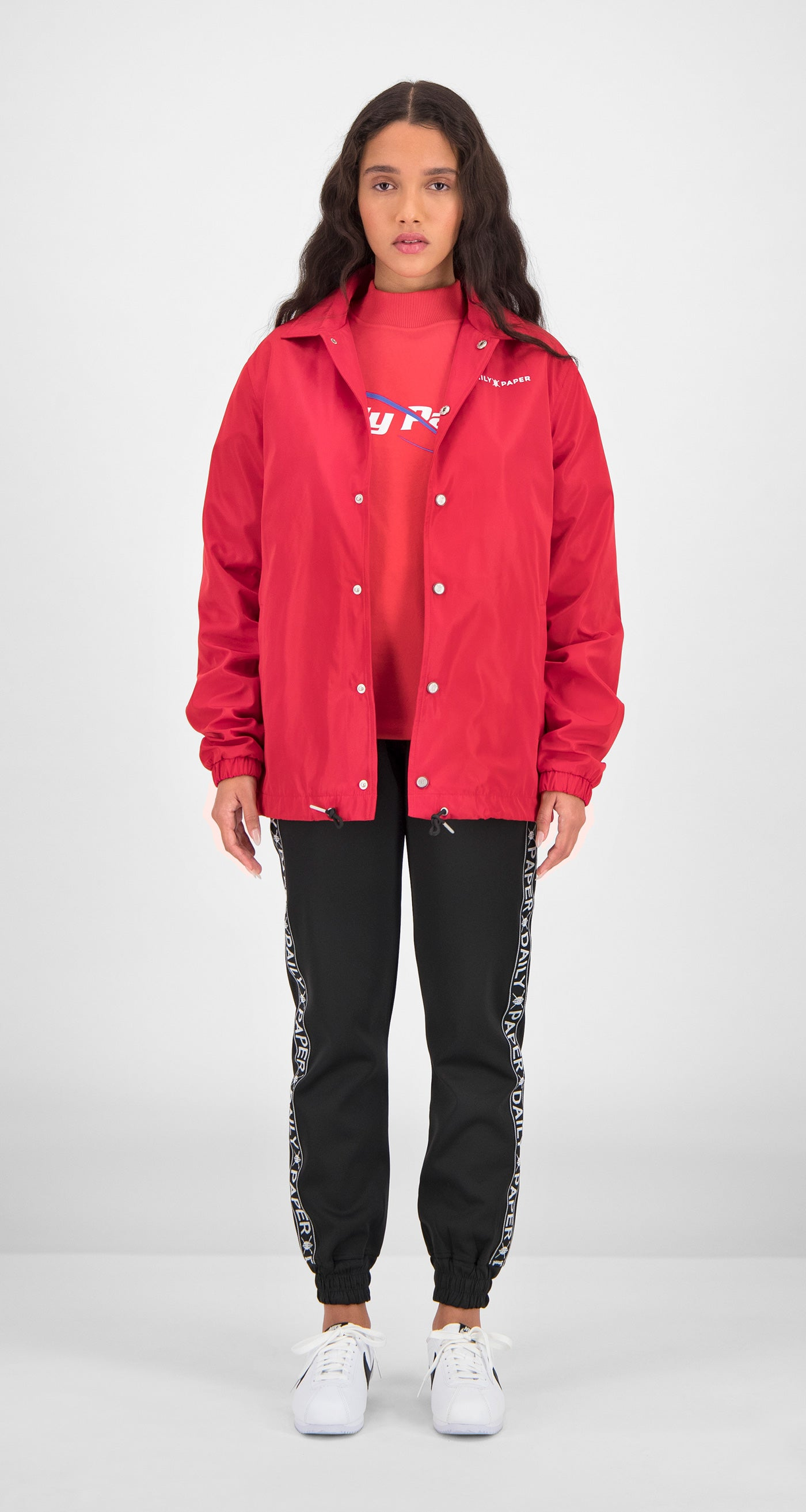 Daily Paper - Red Essential Coach Jacket Women Front