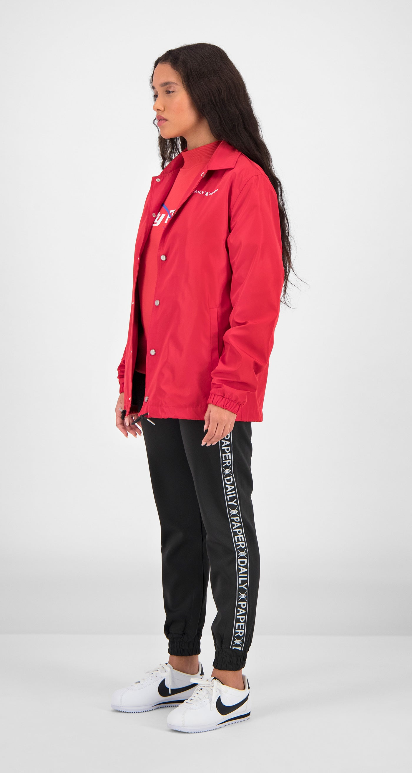 Daily Paper - Red Essential Coach Jacket Women