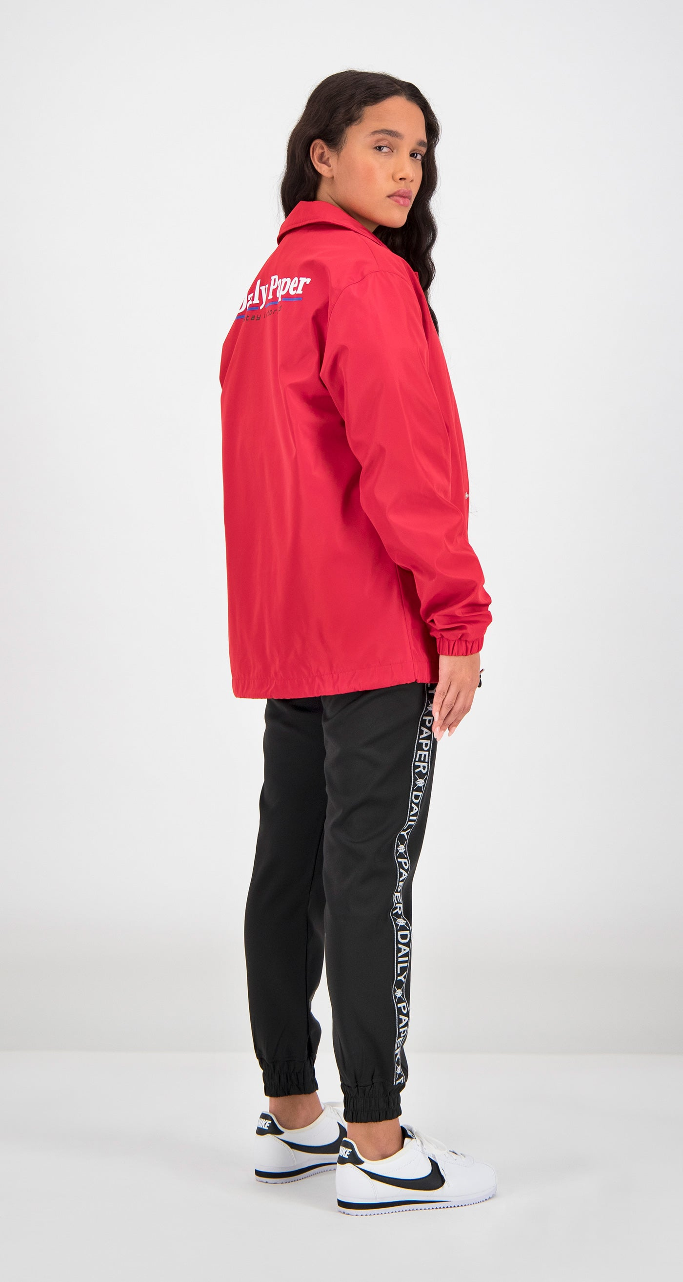 Daily Paper - Red Essential Coach Jacket Women Rear