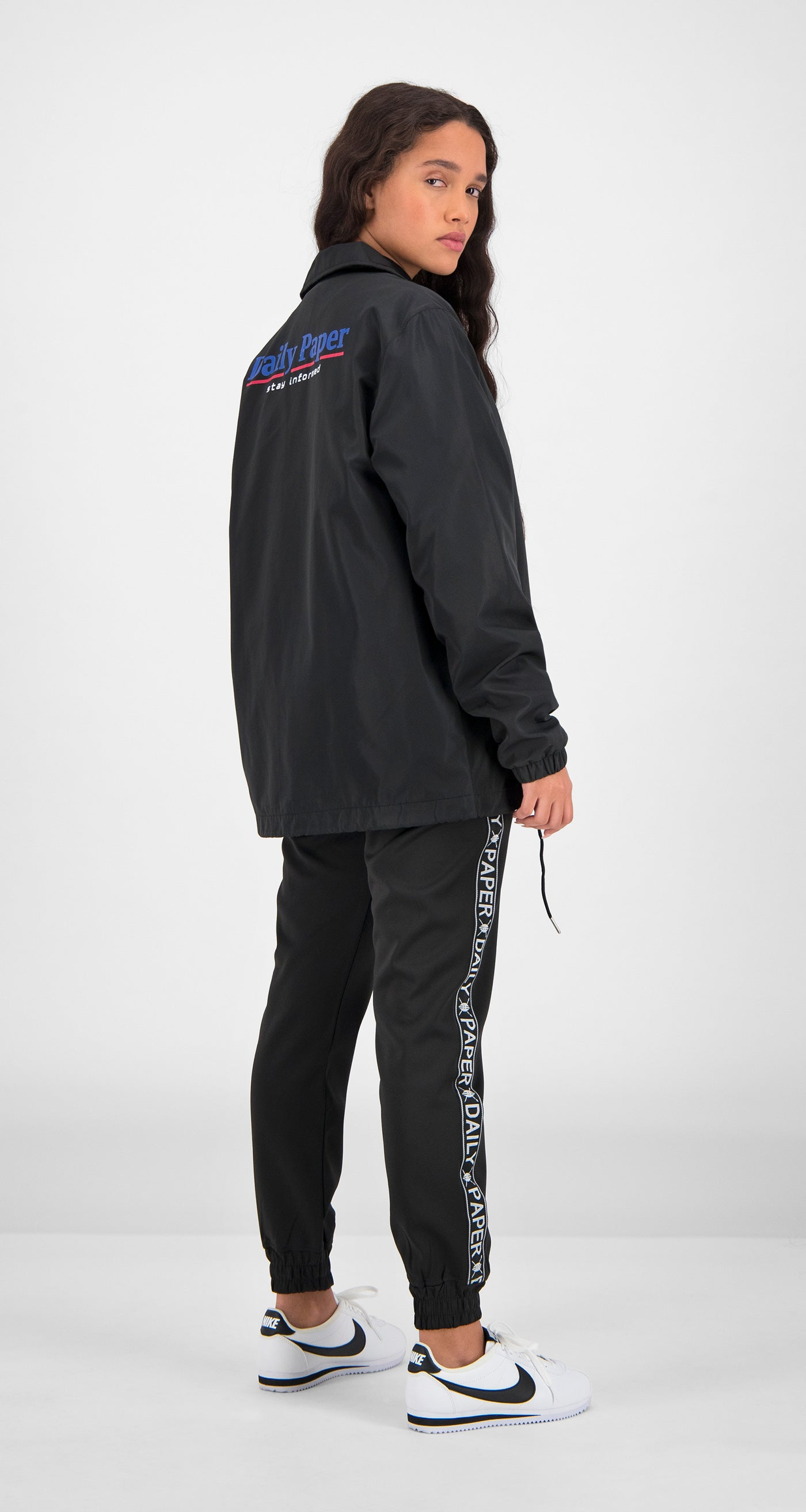Daily Paper - Black Essential Coach Jacket Women Rear