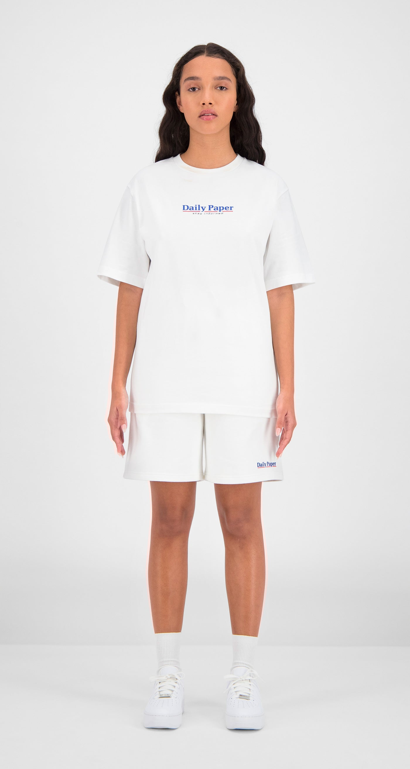 Daily Paper - White Essential T-Shirt Women Front