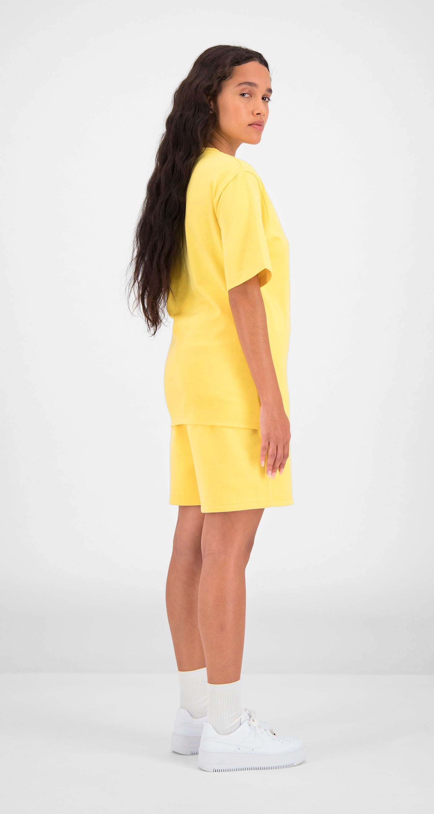 Daily Paper - Yellow Essential T-Shirt Women Rear