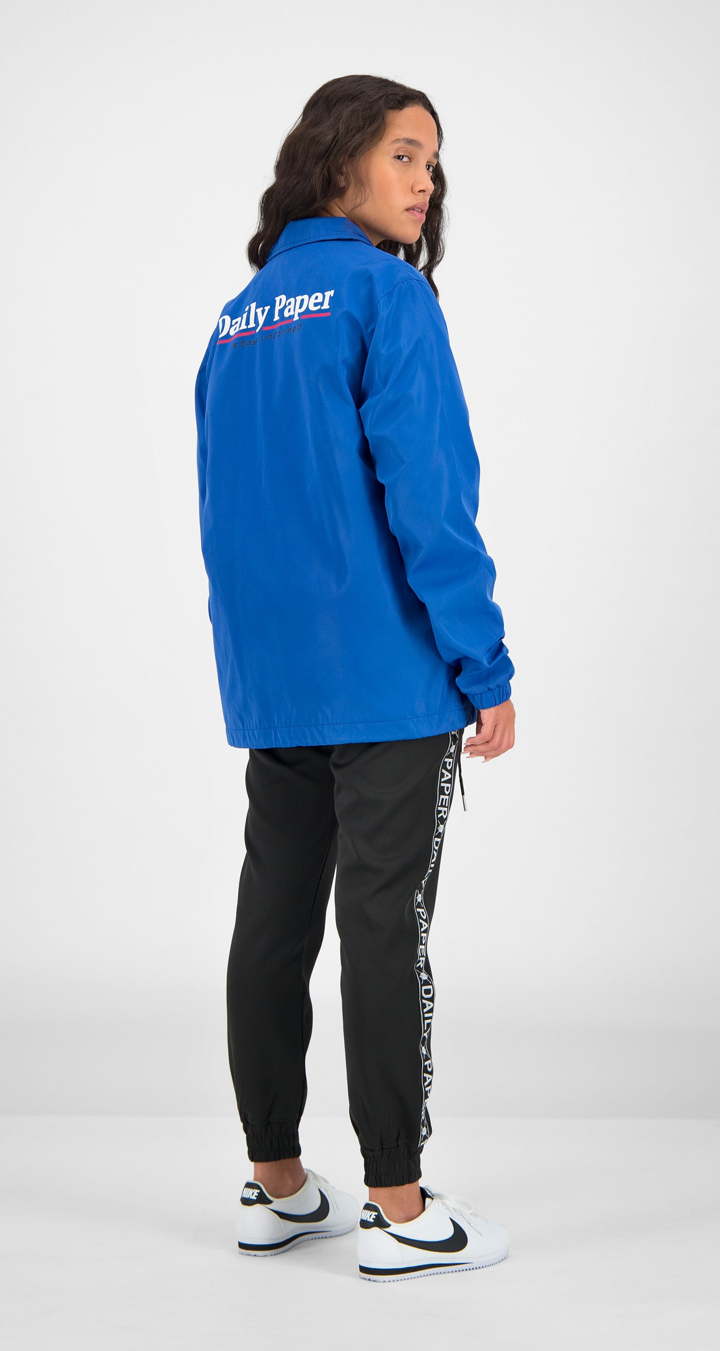 Daily Paper - Blue Essential Coach Jacket Women Rear