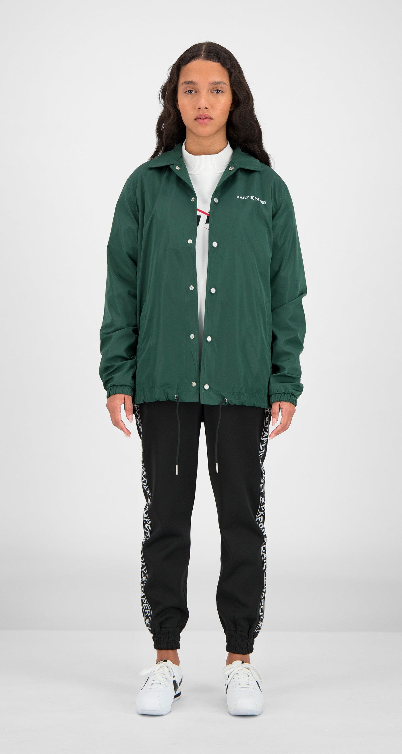Daily Paper - Green Essential Coach Jacket Women Front