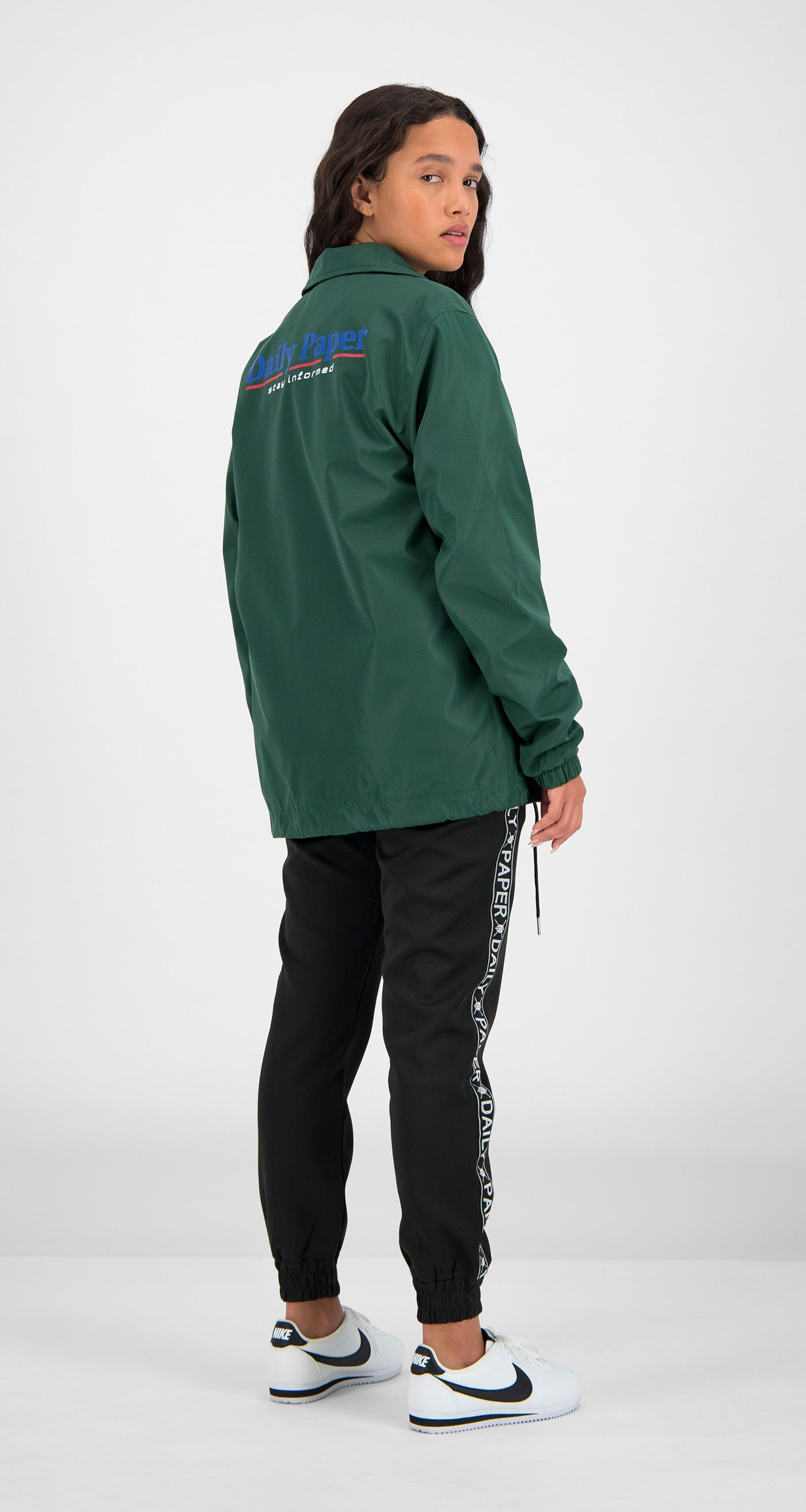Daily Paper - Green Essential Coach Jacket Women Rear