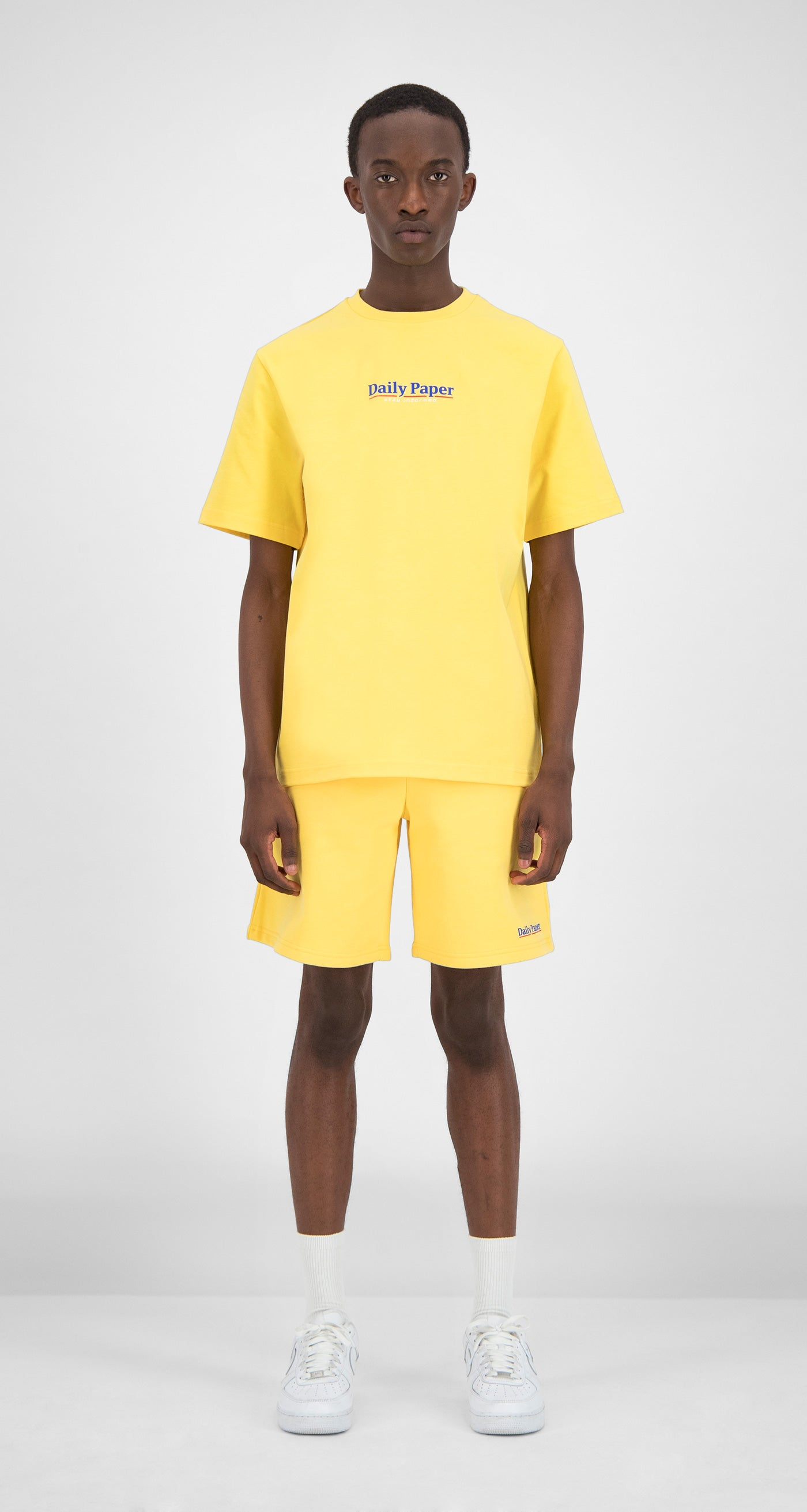 Daily Paper - Yellow Essential T-Shirt Men Front