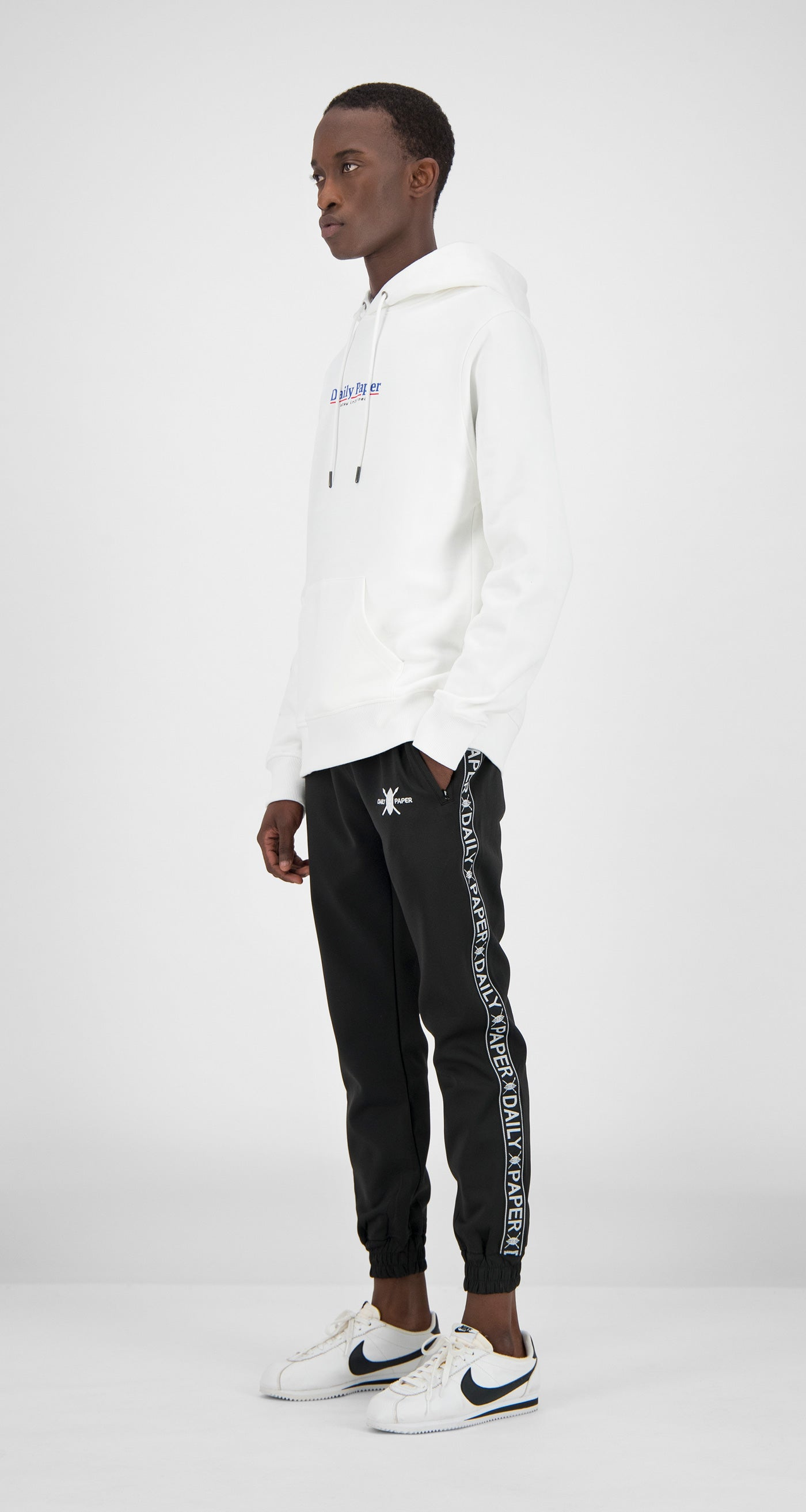 Daily Paper - White Essential Hoody Men
